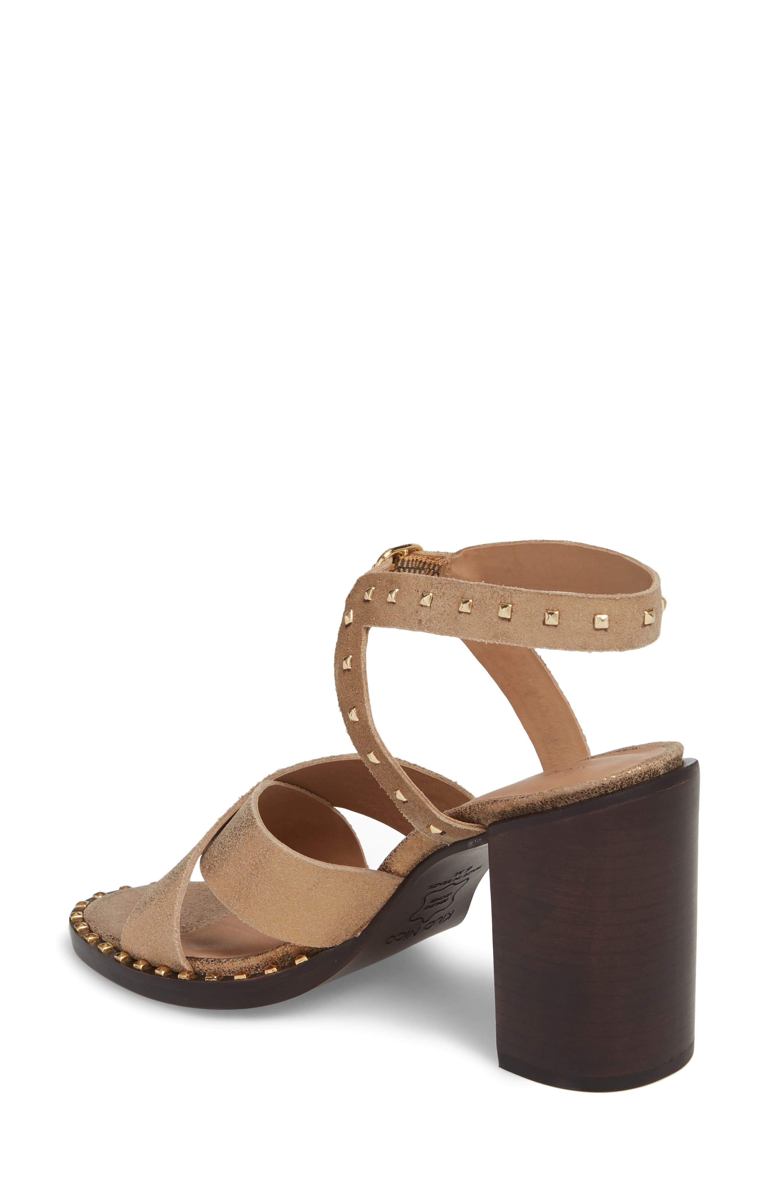 Tabia Sandal,                             Alternate thumbnail 2, color,                             Bronze Suede