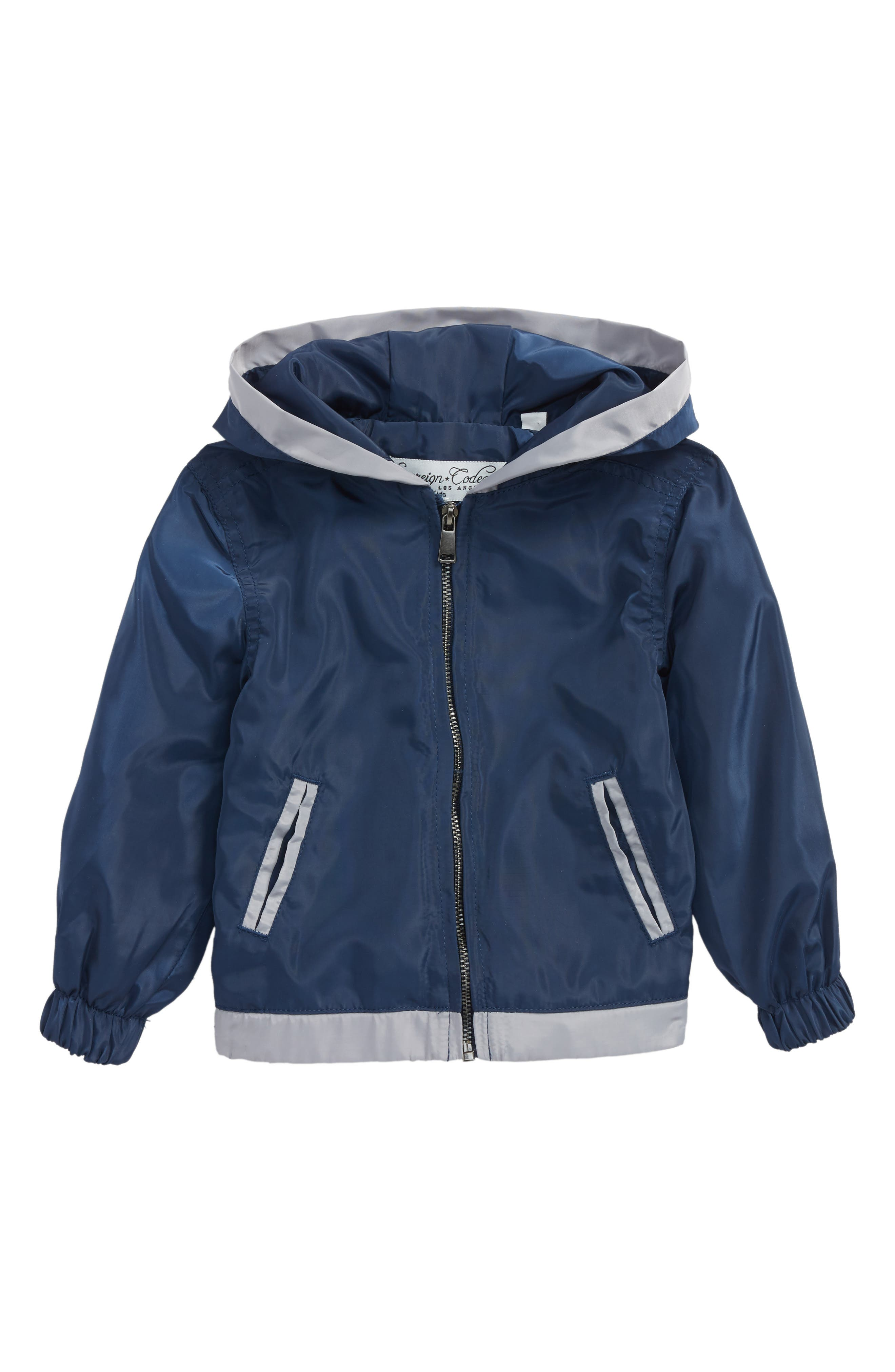 Fresh Hooded Jacket,                         Main,                         color, Navy