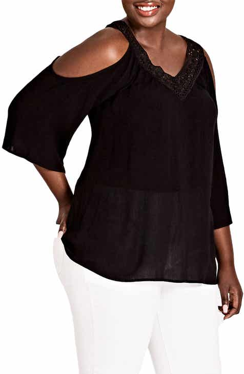 69ba664fdda City Chic Conchita Cold Shoulder Top (Plus Size)