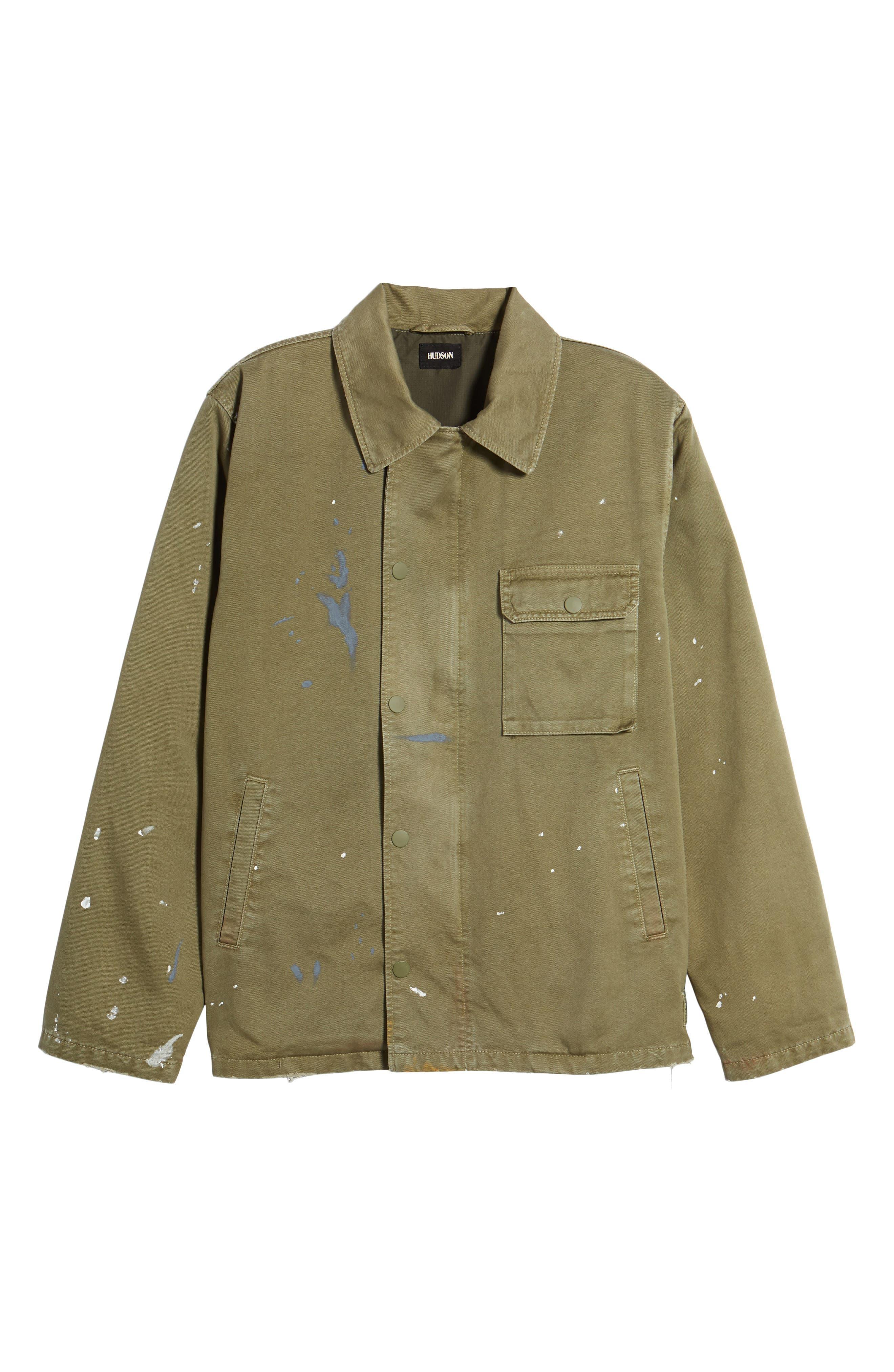 Hudson Military Jacket,                             Alternate thumbnail 5, color,                             Army Paint