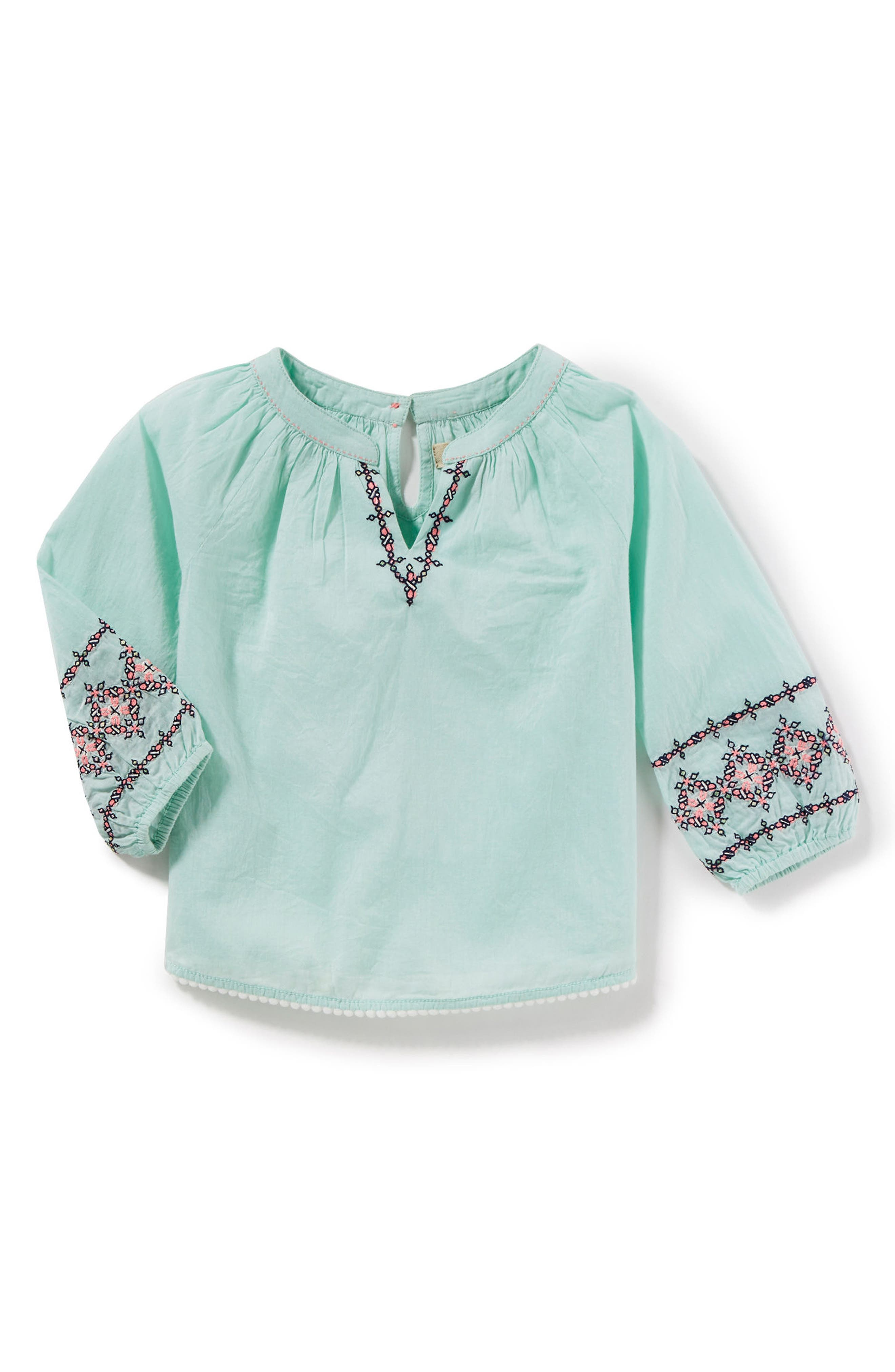 Naomi Embroidered Top,                         Main,                         color, Mint