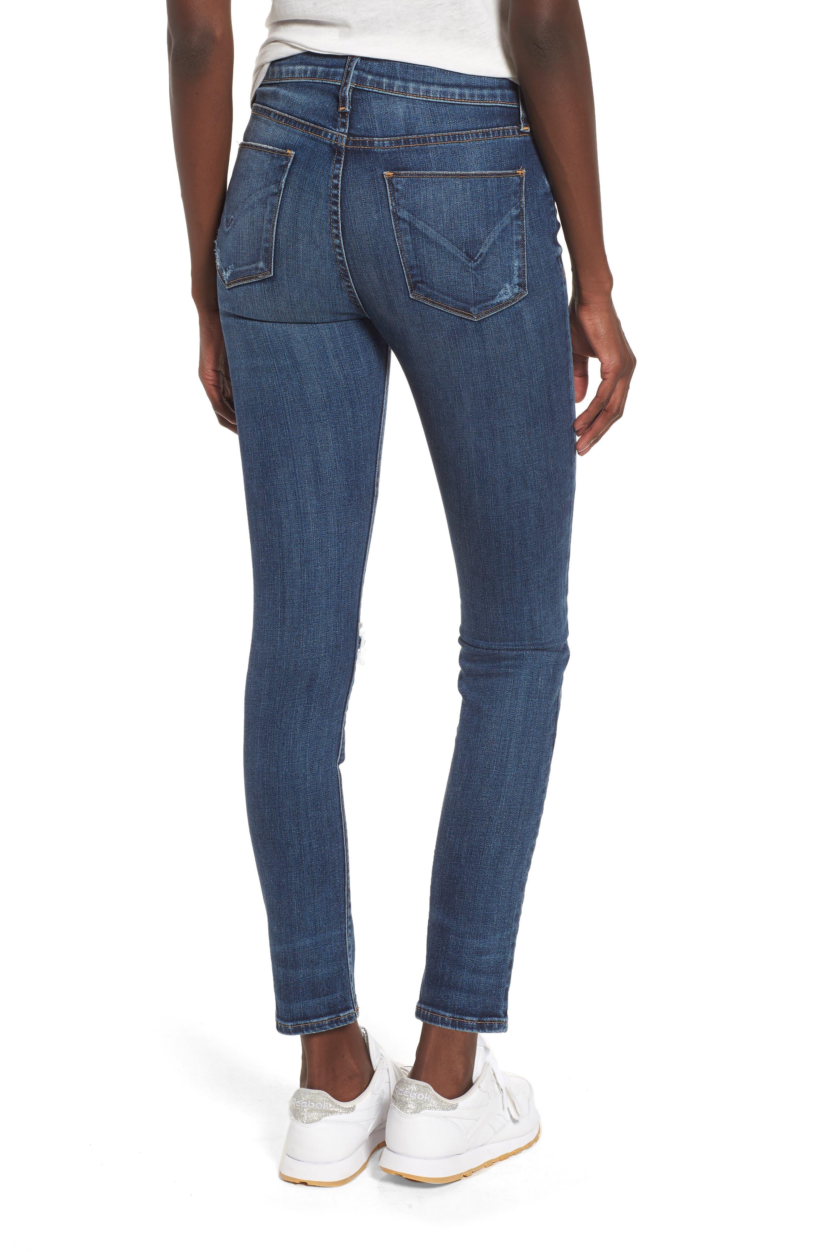 Barbara Exposed Zip High Waist Ankle Skinny Jeans,                             Alternate thumbnail 2, color,                             Vibez