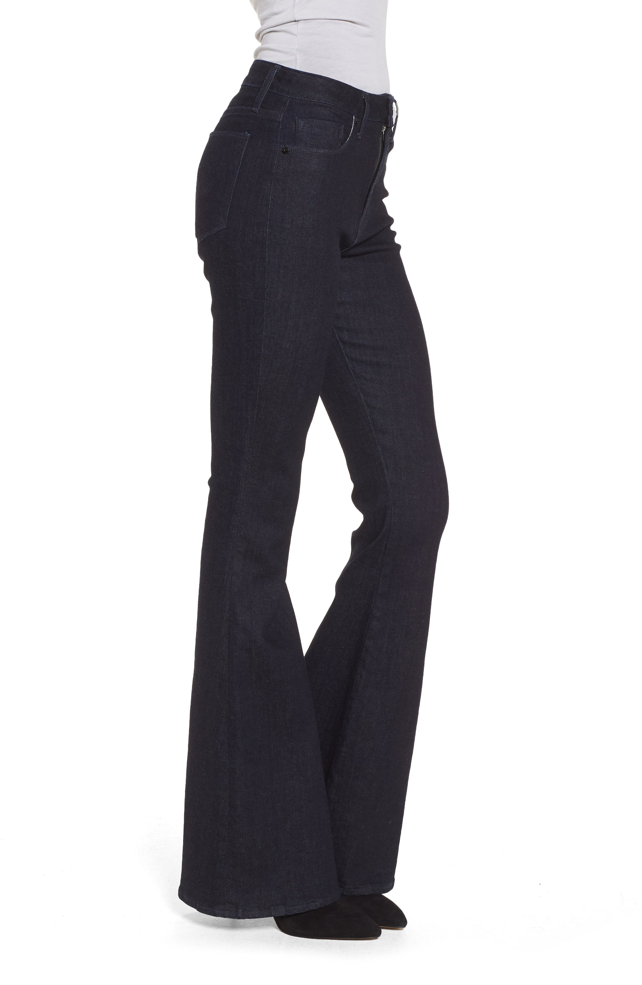 Holly High Waist Flare Jeans,                             Alternate thumbnail 3, color,                             Infuse