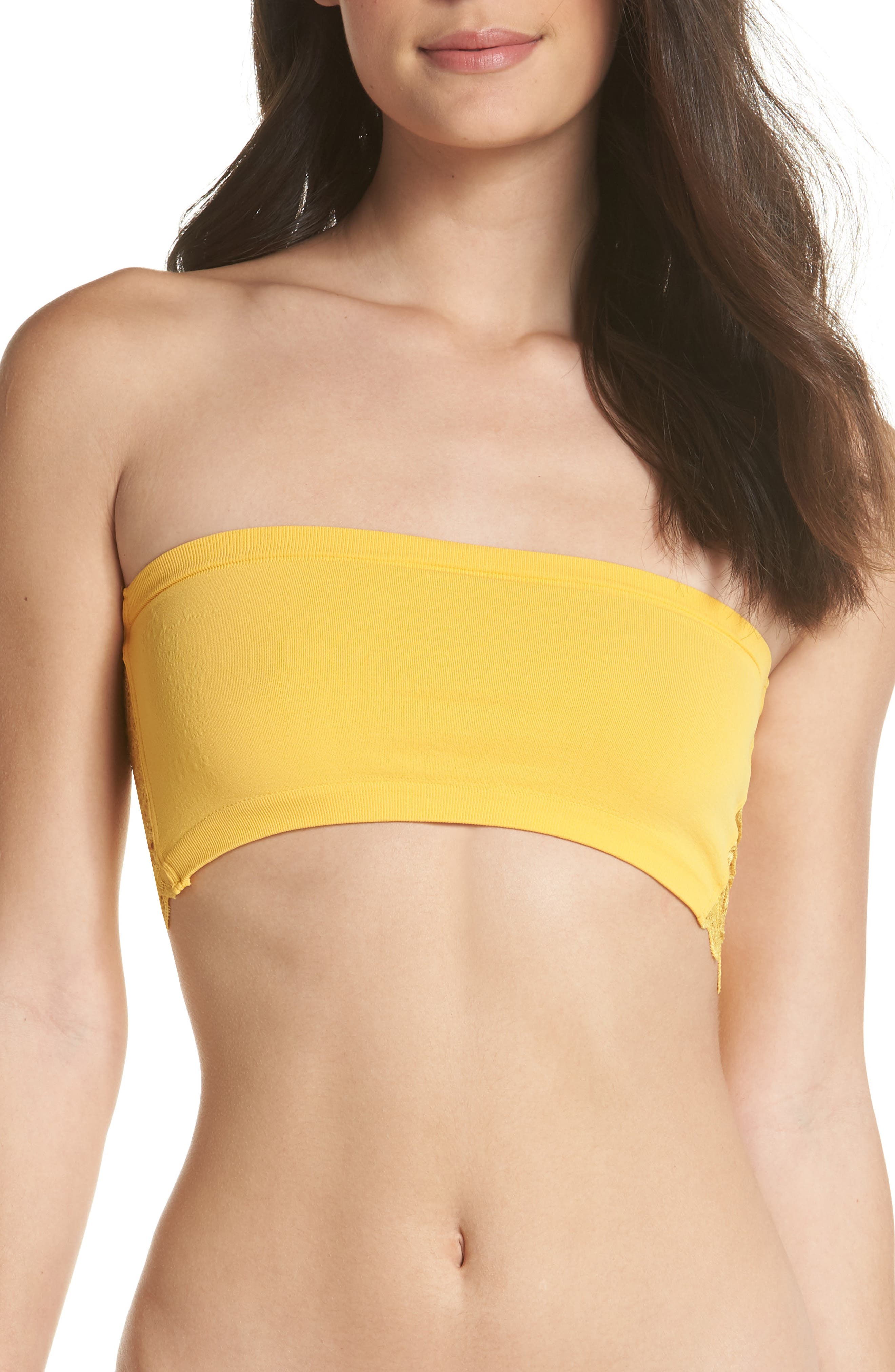 Intimately FP Lace Reversible Seamless Bandeau,                             Alternate thumbnail 4, color,                             Gold