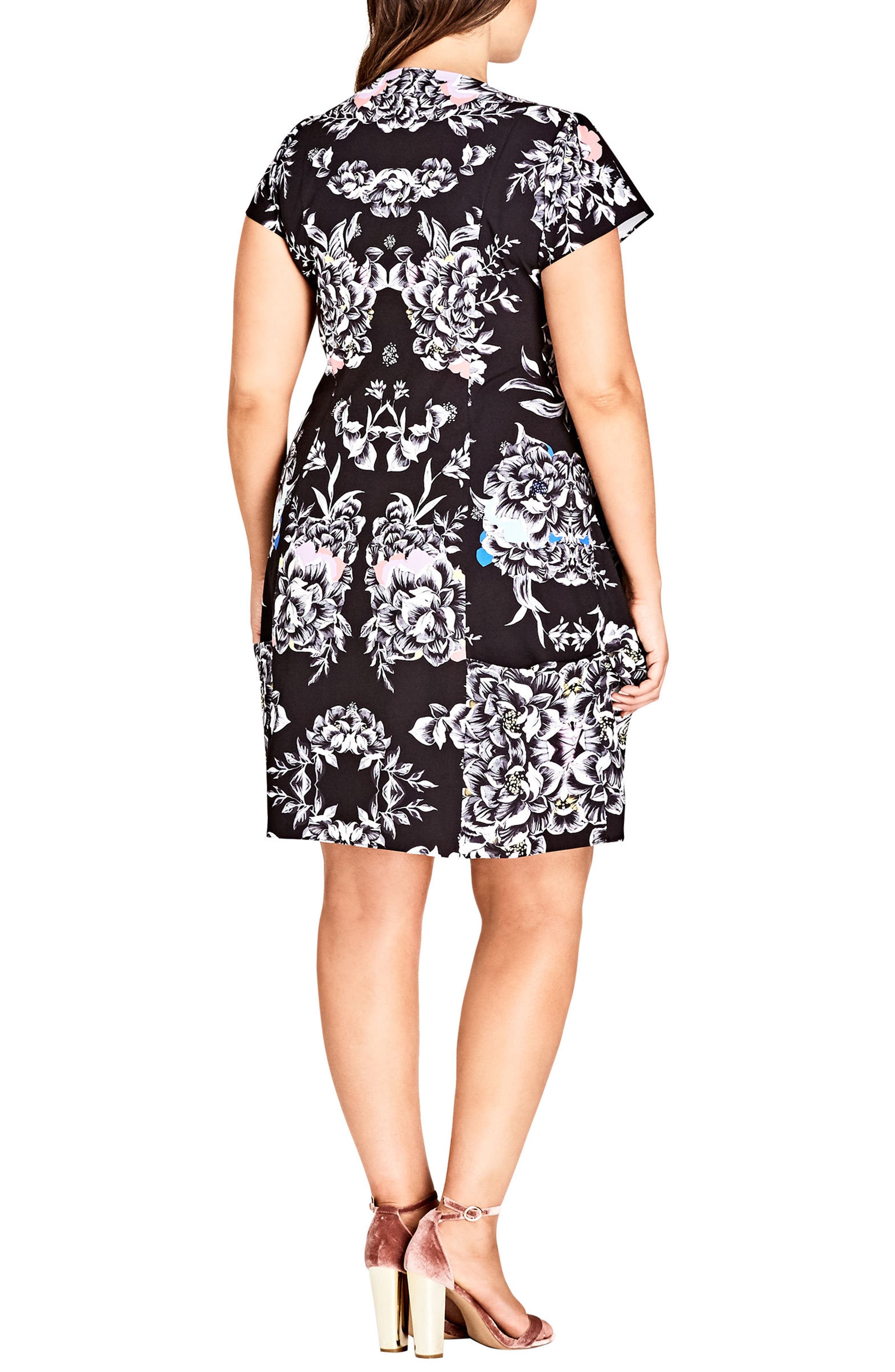 Alternate Image 2  - City Chic Mirror Power Dress (Plus Size)