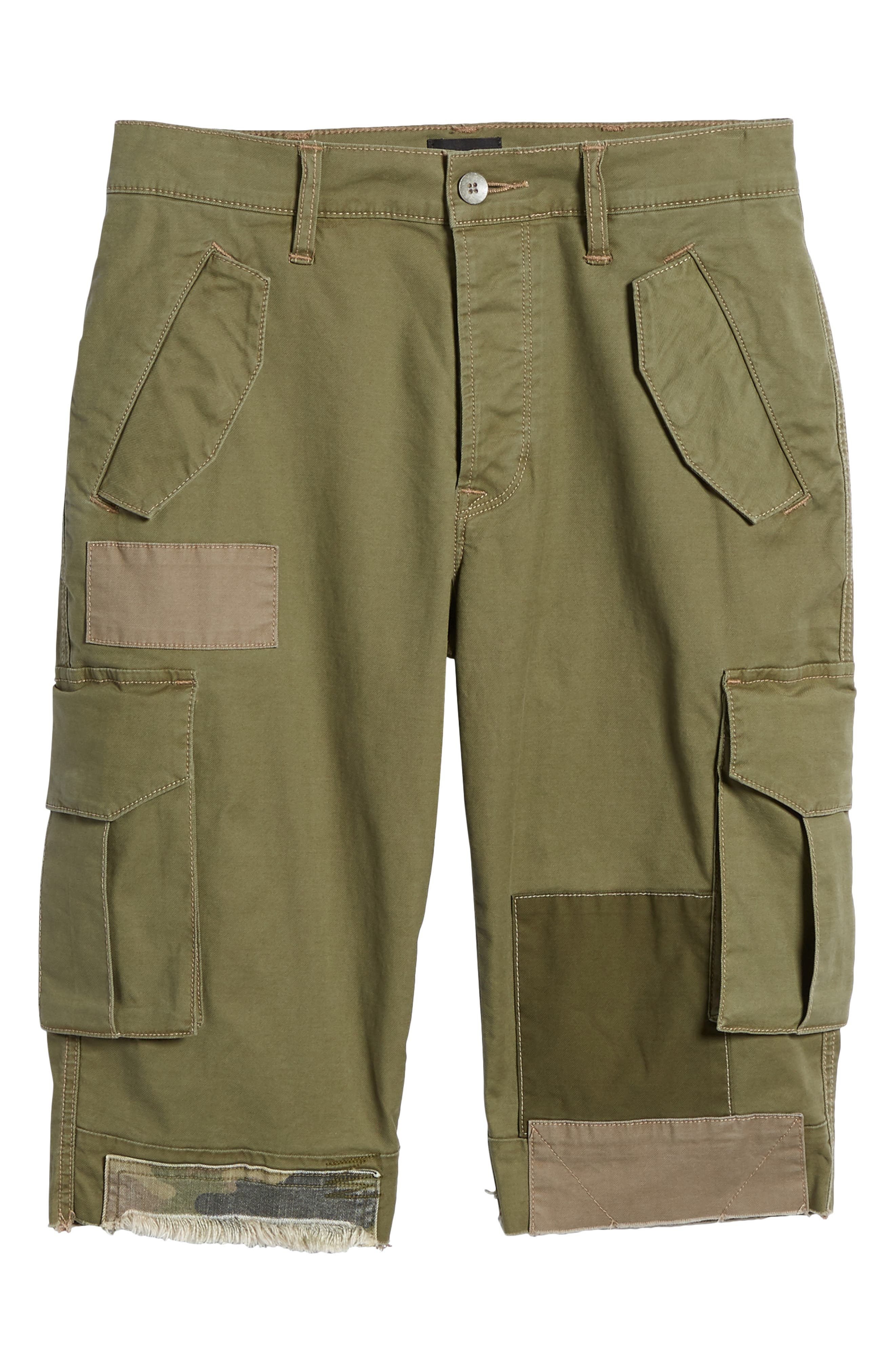 Slim Fit Cargo Shorts,                             Alternate thumbnail 6, color,                             Army Green 2