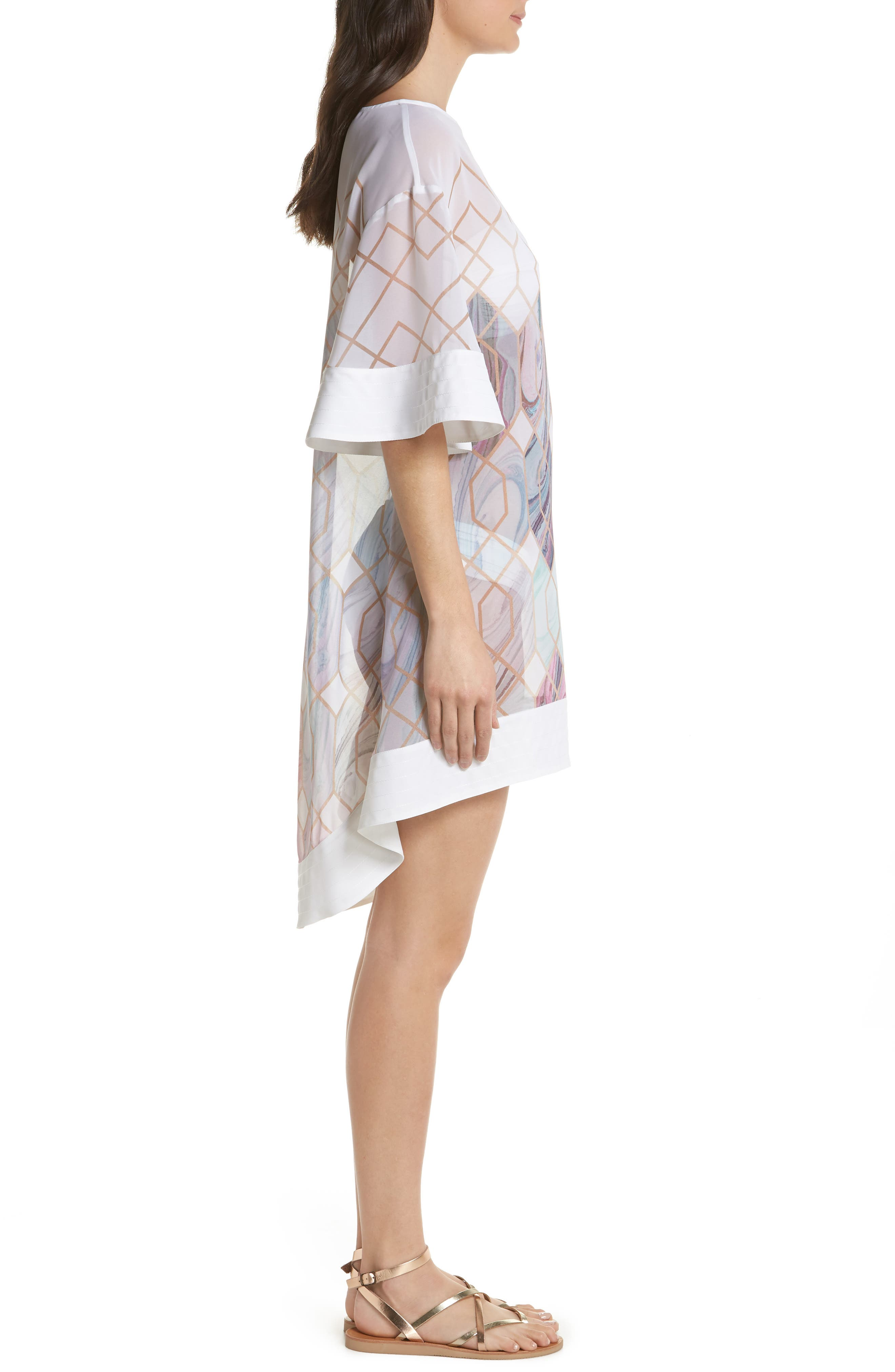 Sea of Clouds Cover-Up Tunic,                             Alternate thumbnail 3, color,                             White