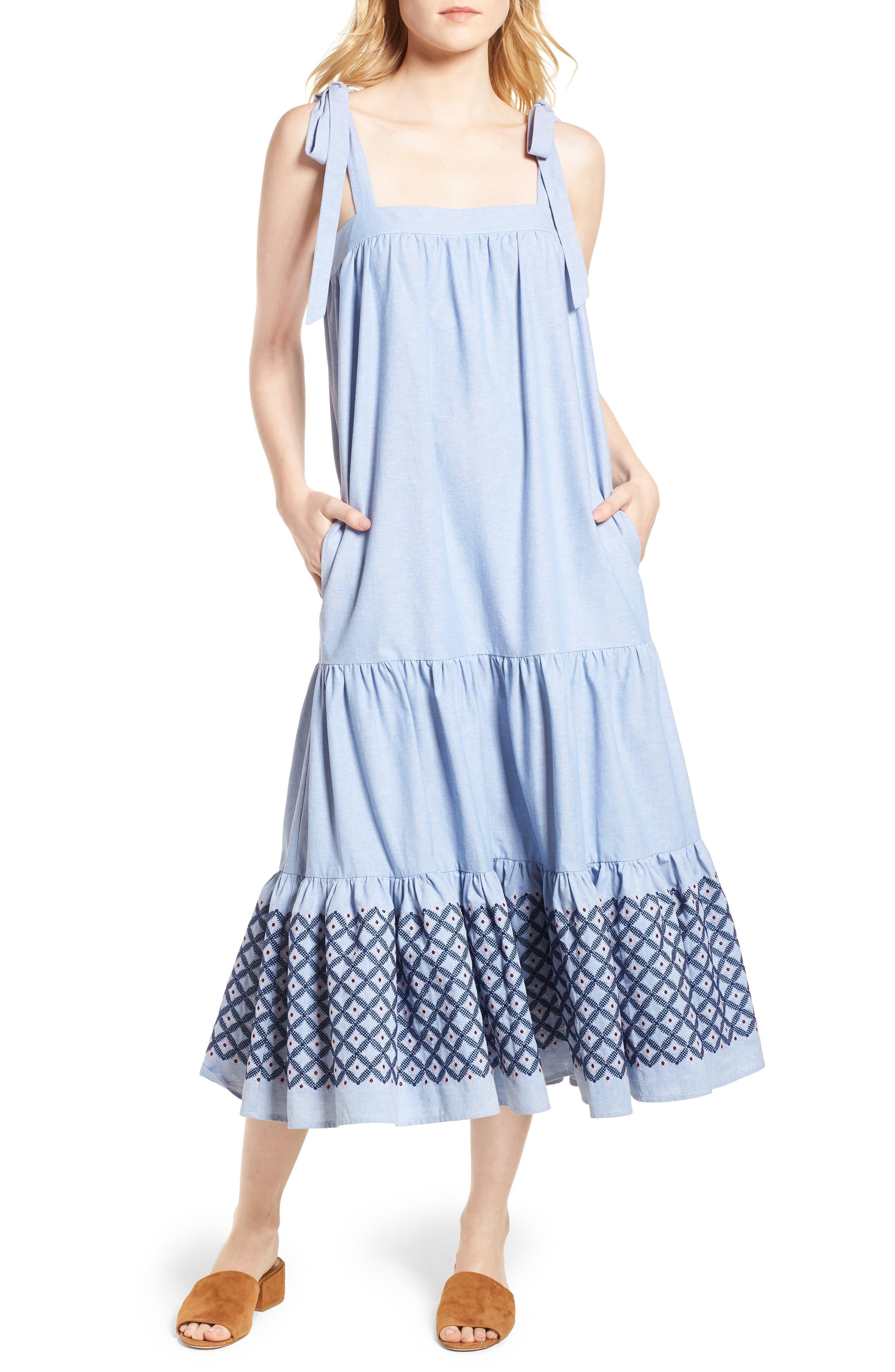 Lucy Dress,                             Main thumbnail 1, color,                             Blue