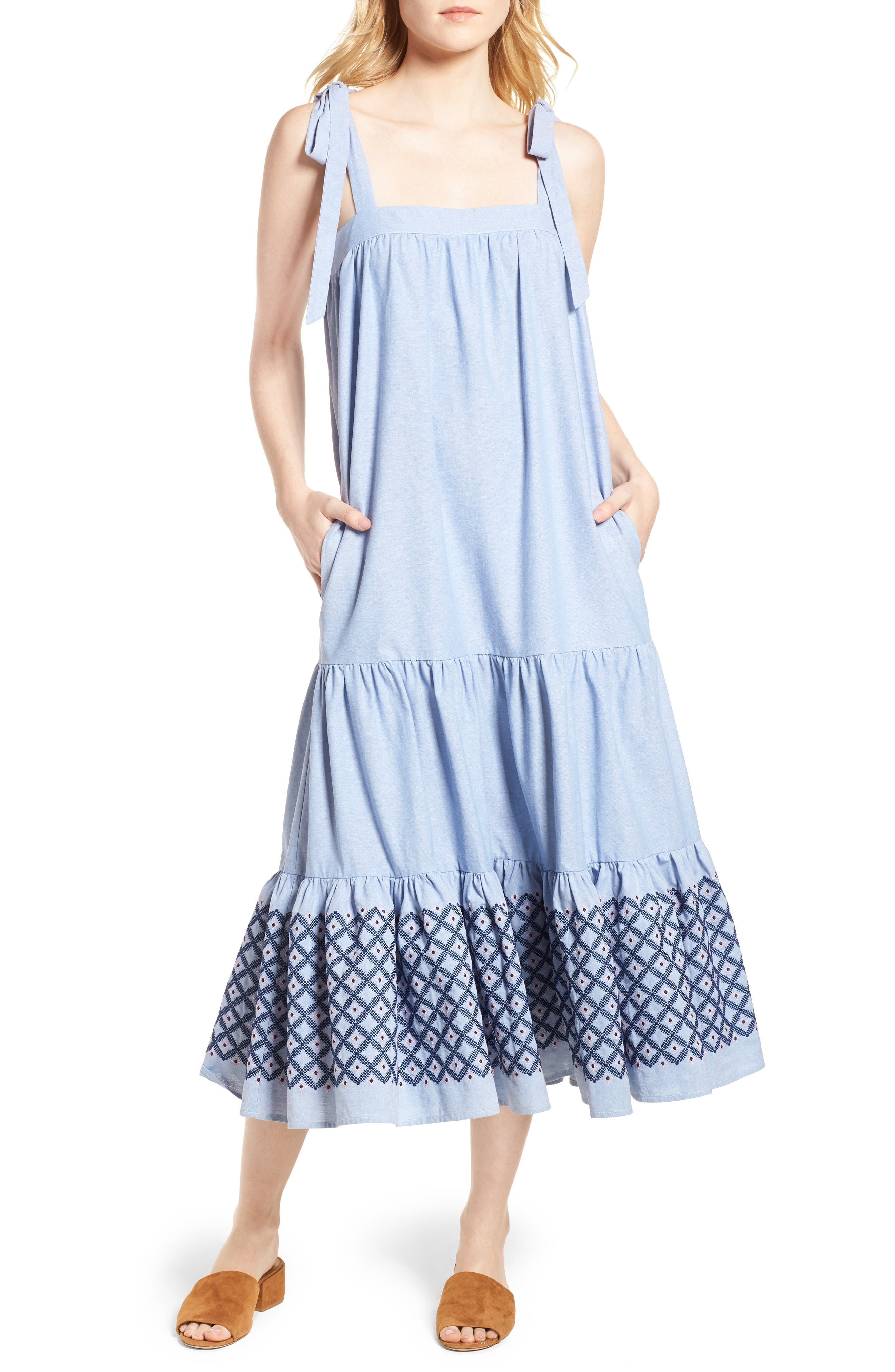 Lucy Dress,                         Main,                         color, Blue