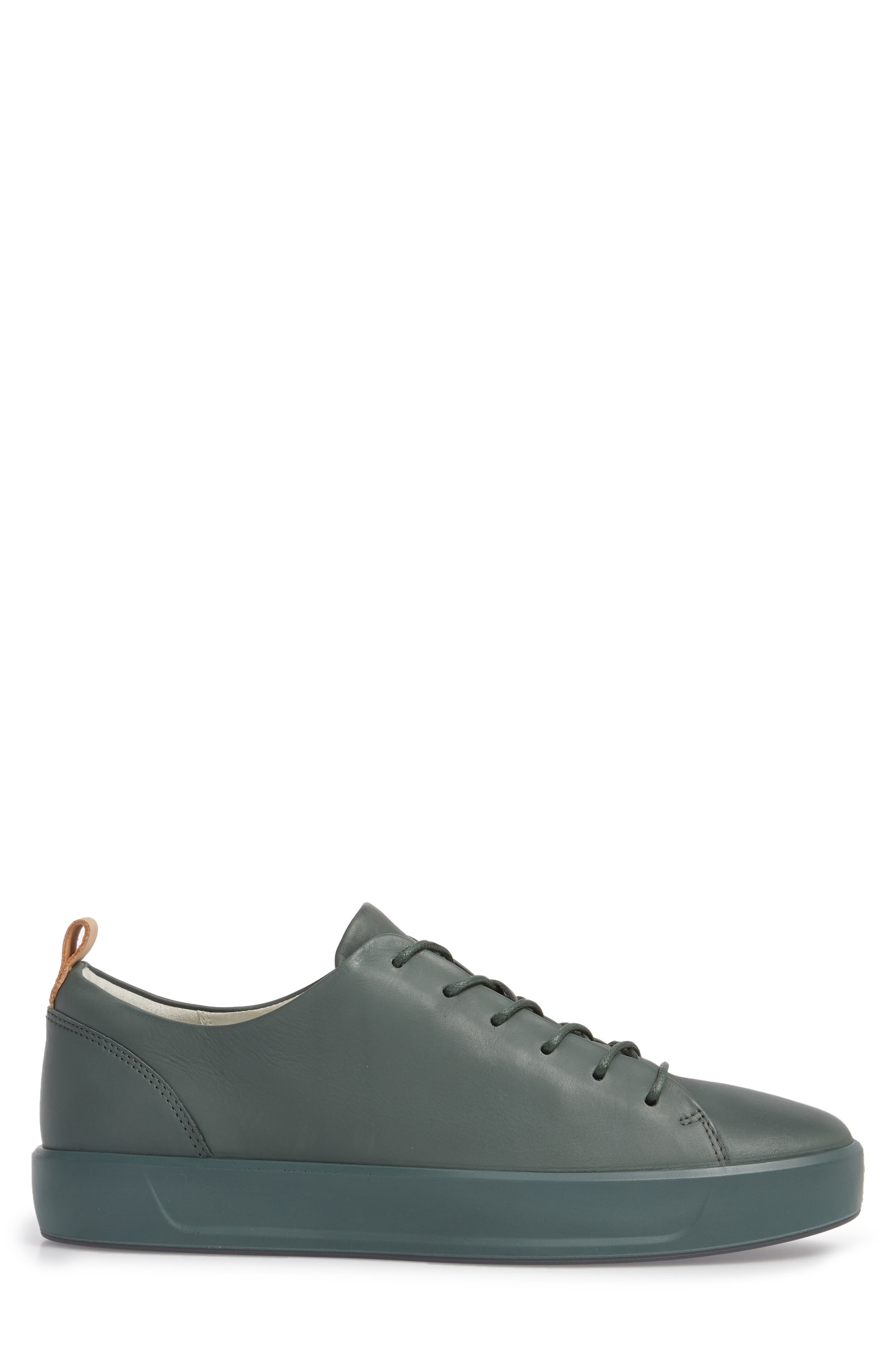 Soft 8 Low Top Sneaker,                             Alternate thumbnail 3, color,                             Military Sage Leather