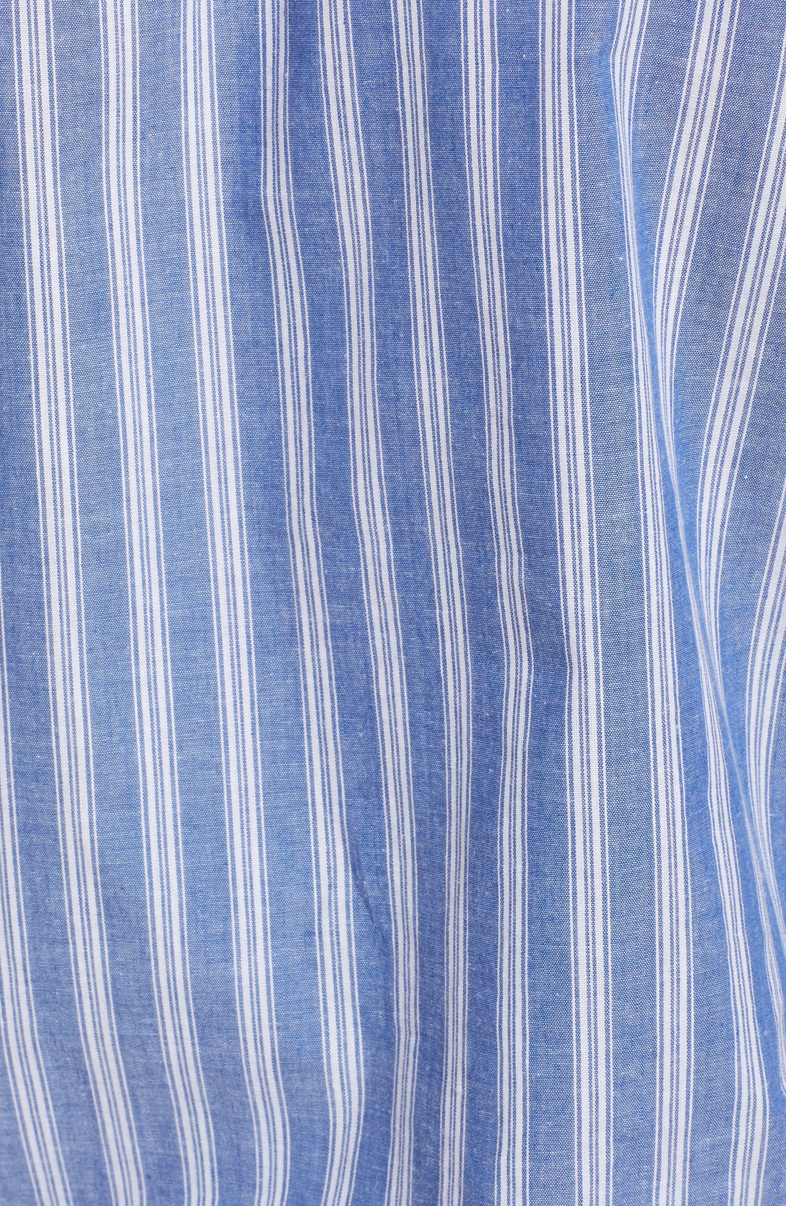 Stripe Tie Hem Top,                             Alternate thumbnail 6, color,                             Blue Celestial Stripe