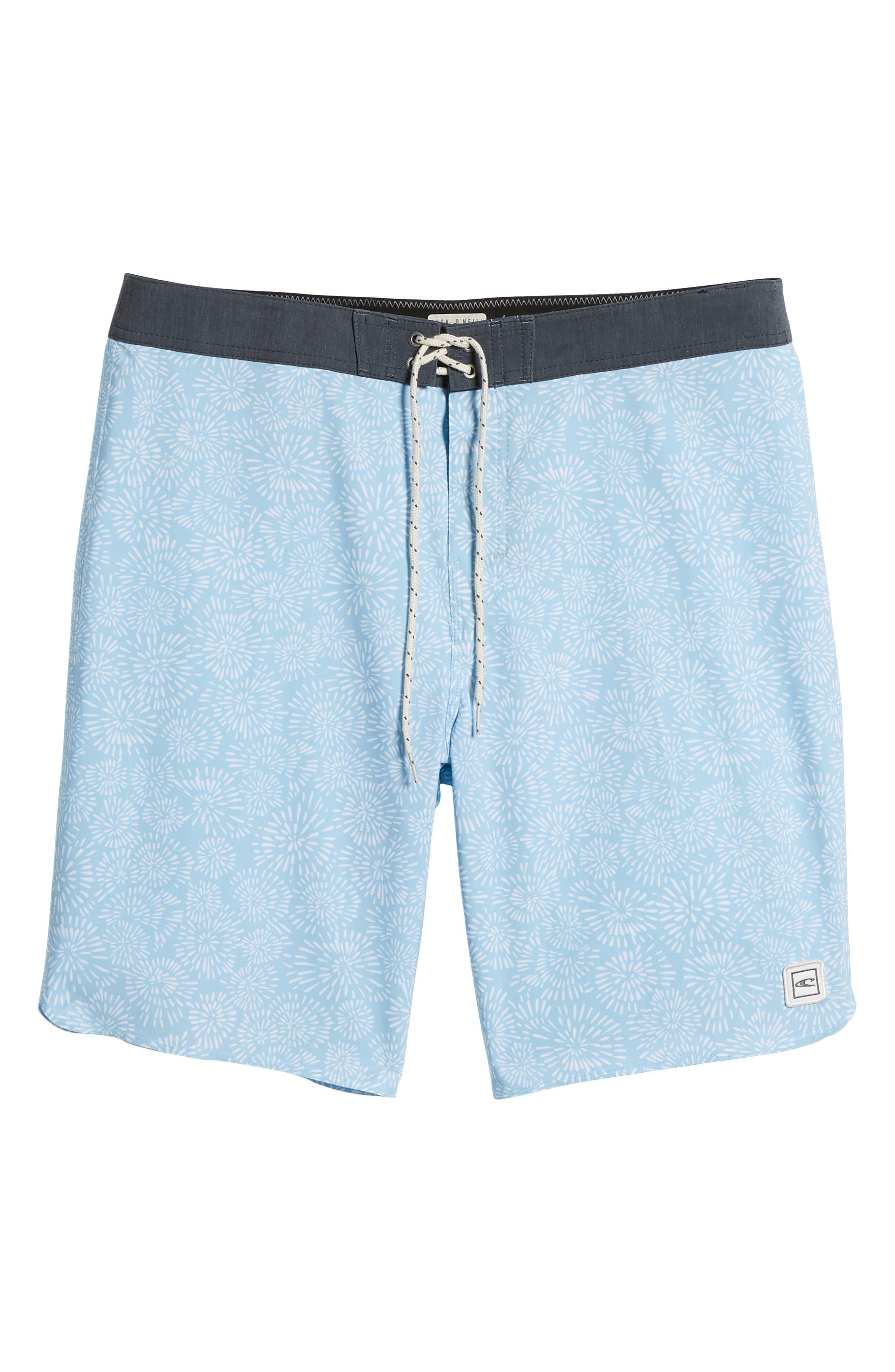 Waterfront Board Shorts,                             Alternate thumbnail 6, color,                             Light Blue