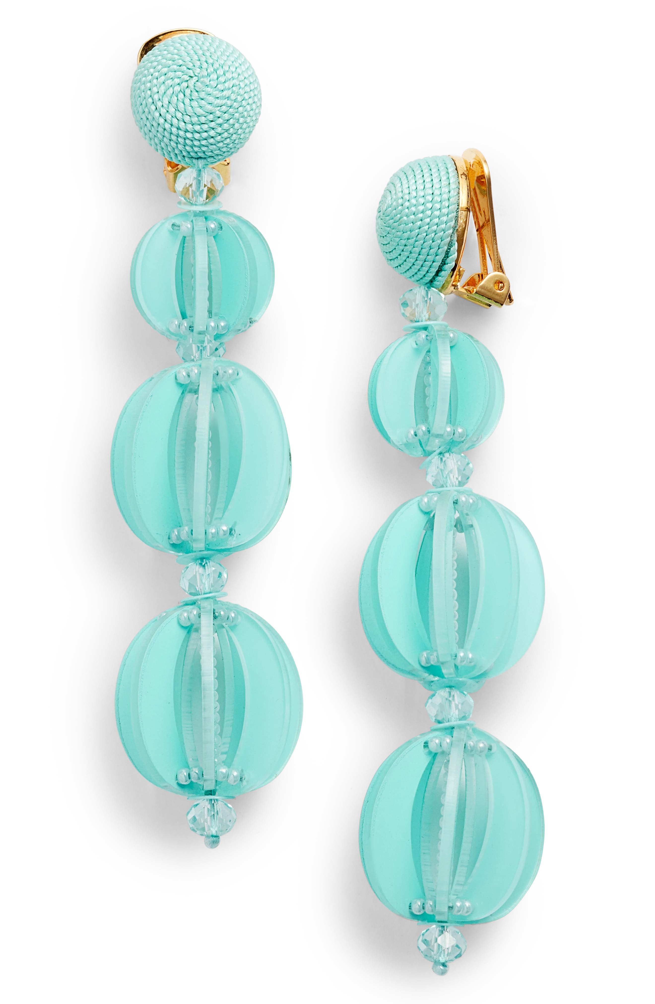 Oscar de la Renta Spliced Globe Earrings