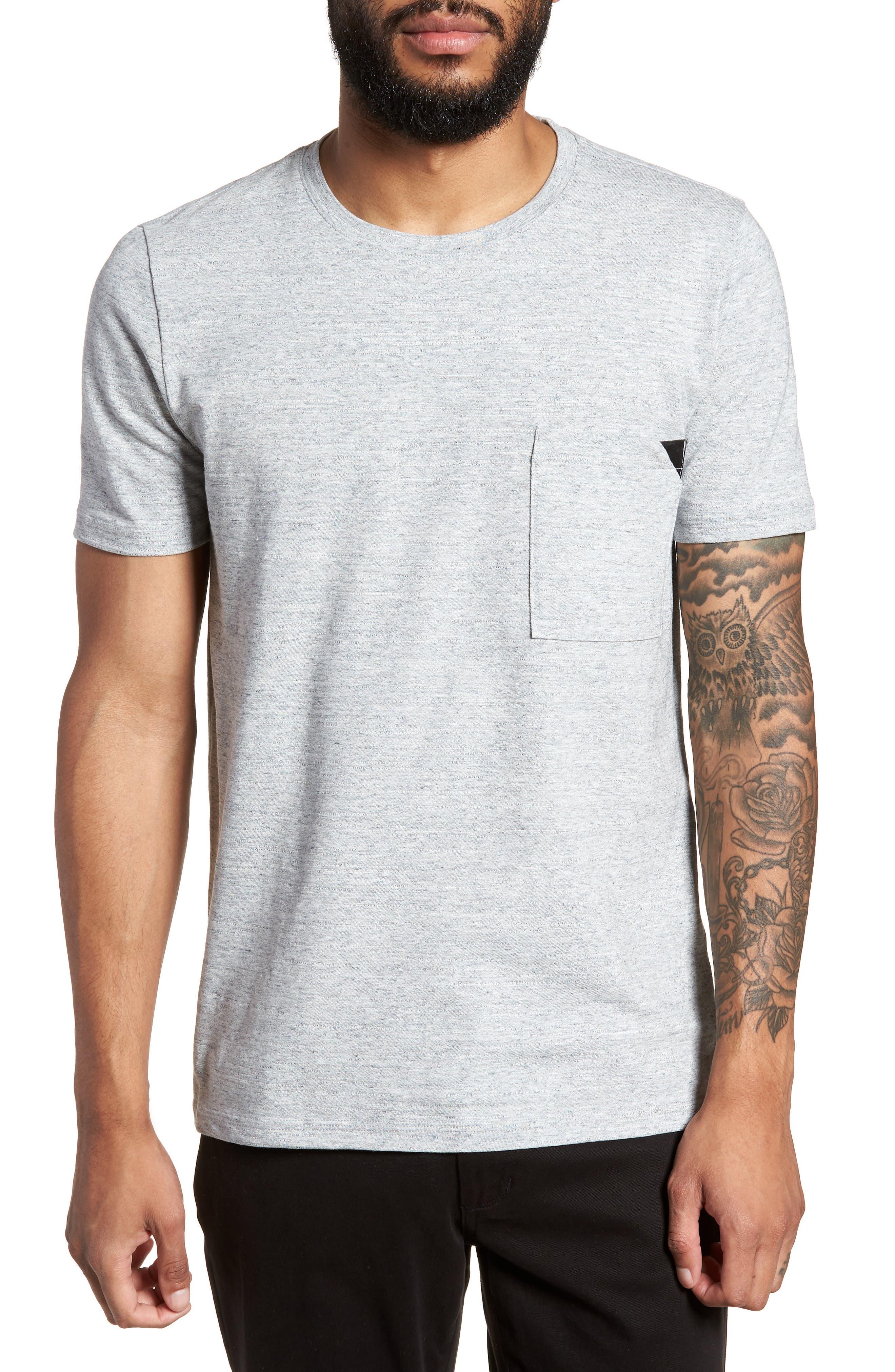 Dohnny Crewneck T-Shirt,                         Main,                         color, Grey