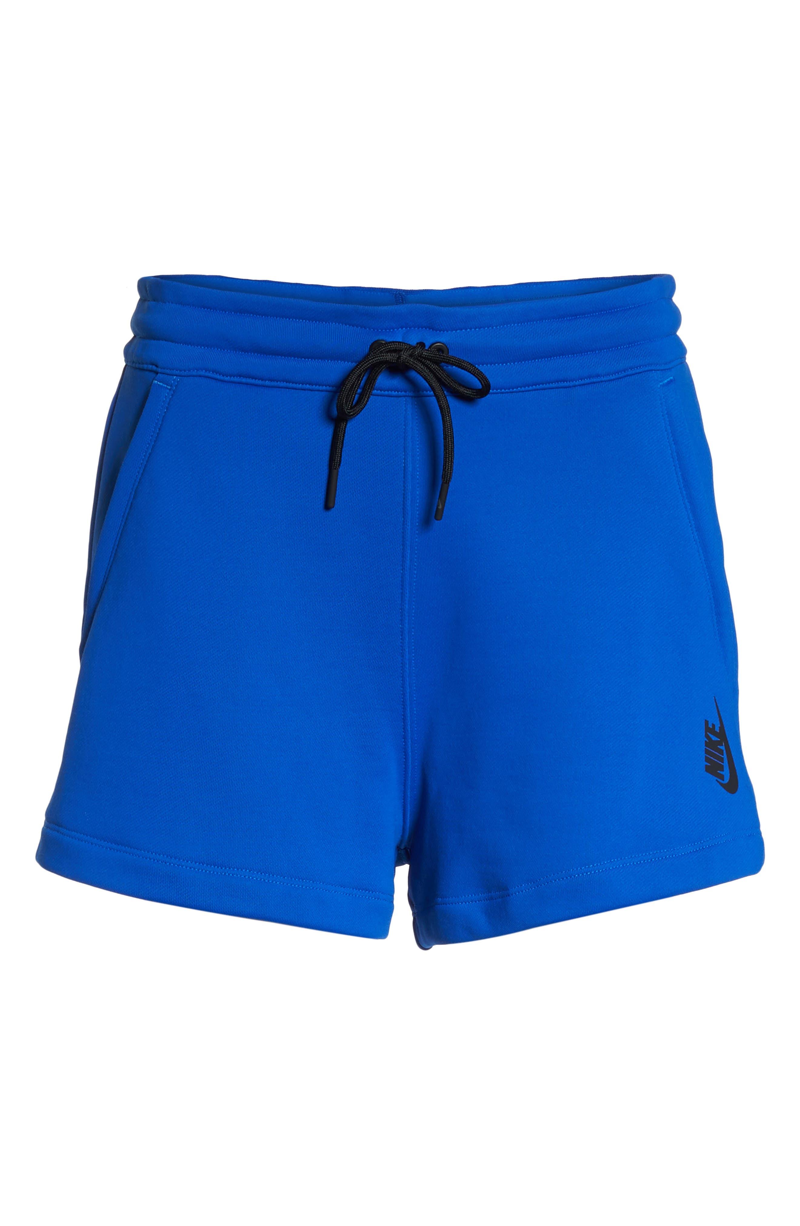 NikeLab Collection Women's Fleece Shorts,                             Alternate thumbnail 8, color,                             Hyper Cobalt/ Black