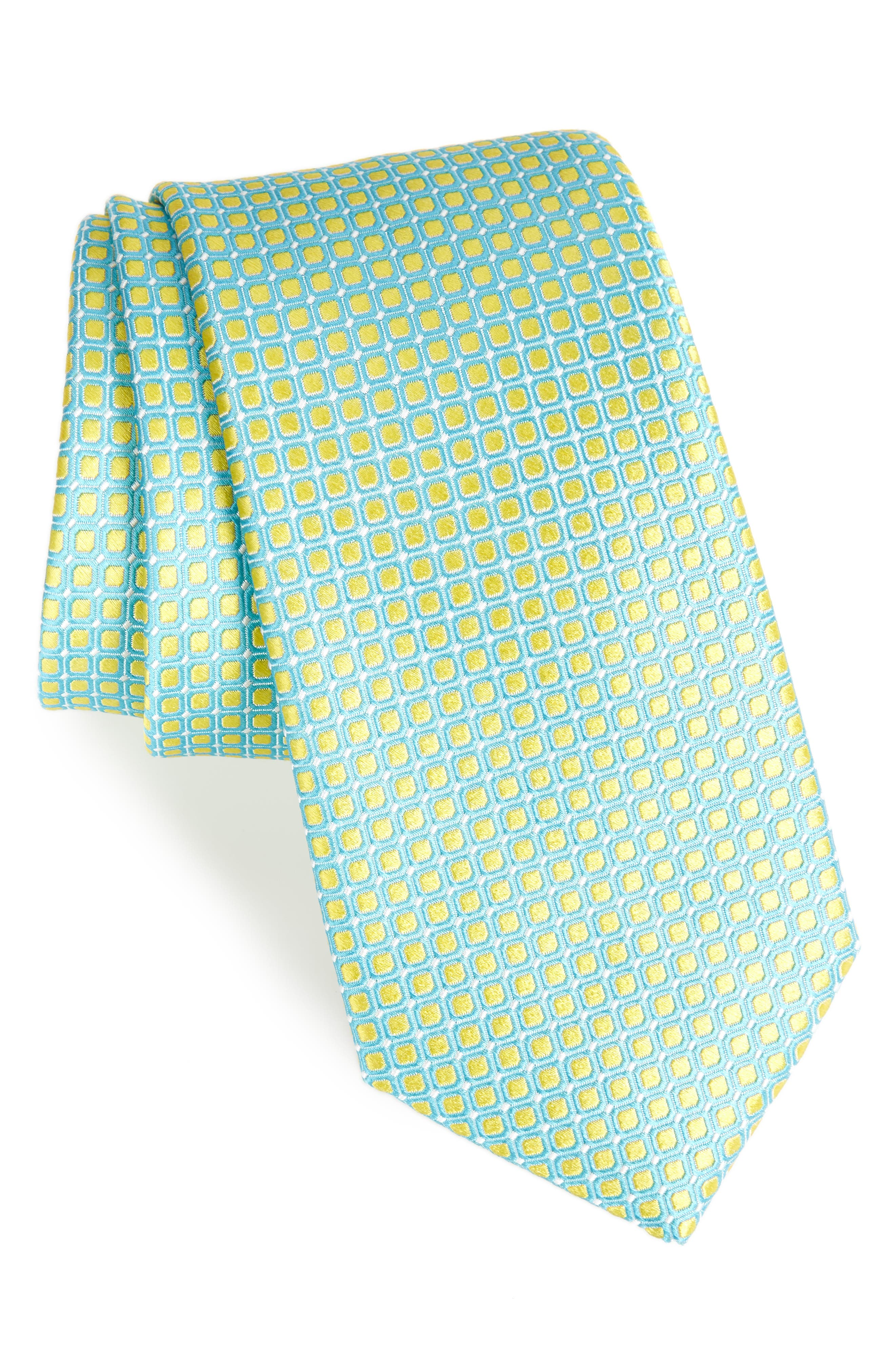 Nordstrom Men's Shop Laguna Check Silk Tie