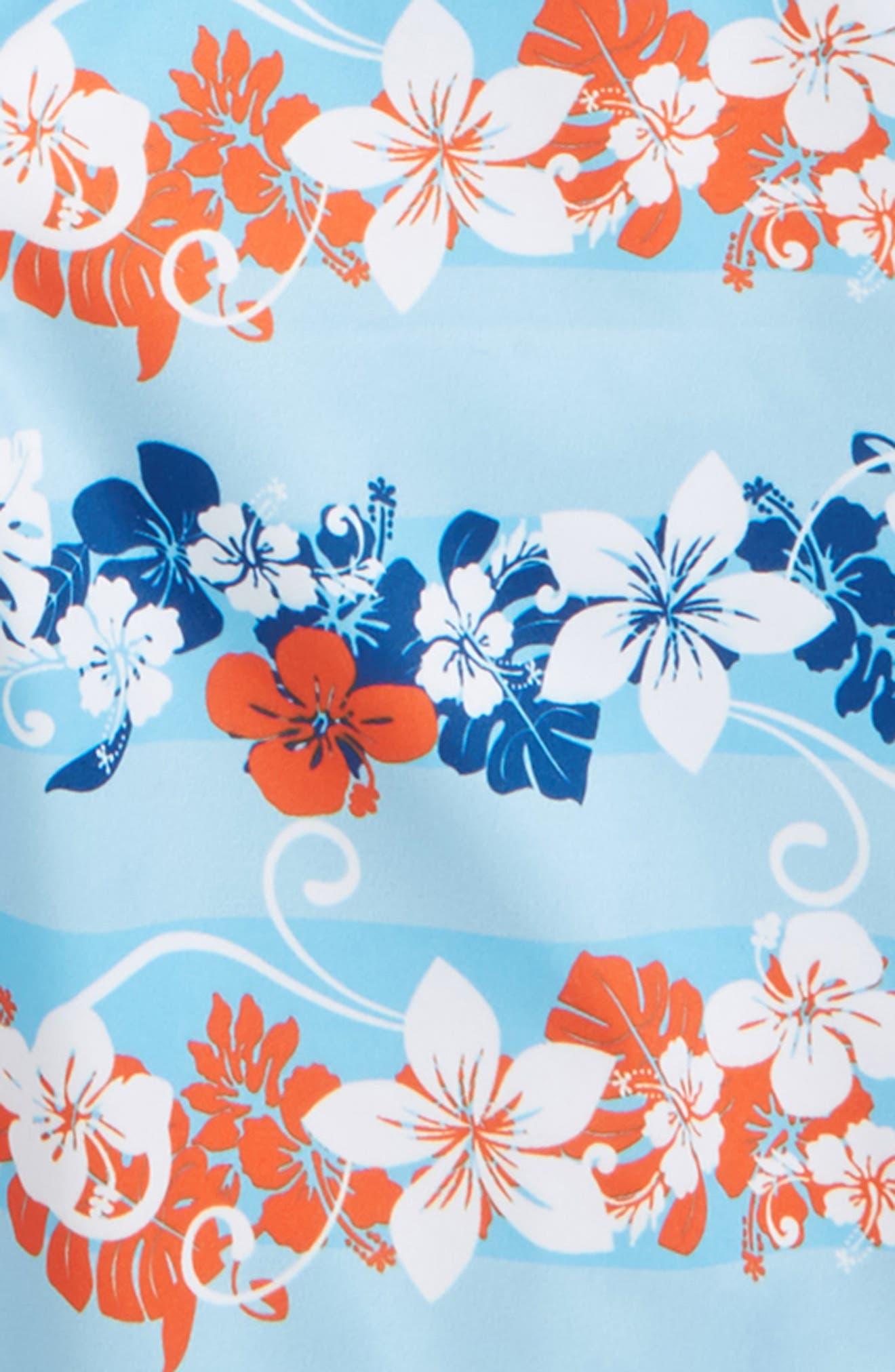 Under The Sea Two-Piece Rashguard Swimsuit,                             Alternate thumbnail 2, color,                             Blue