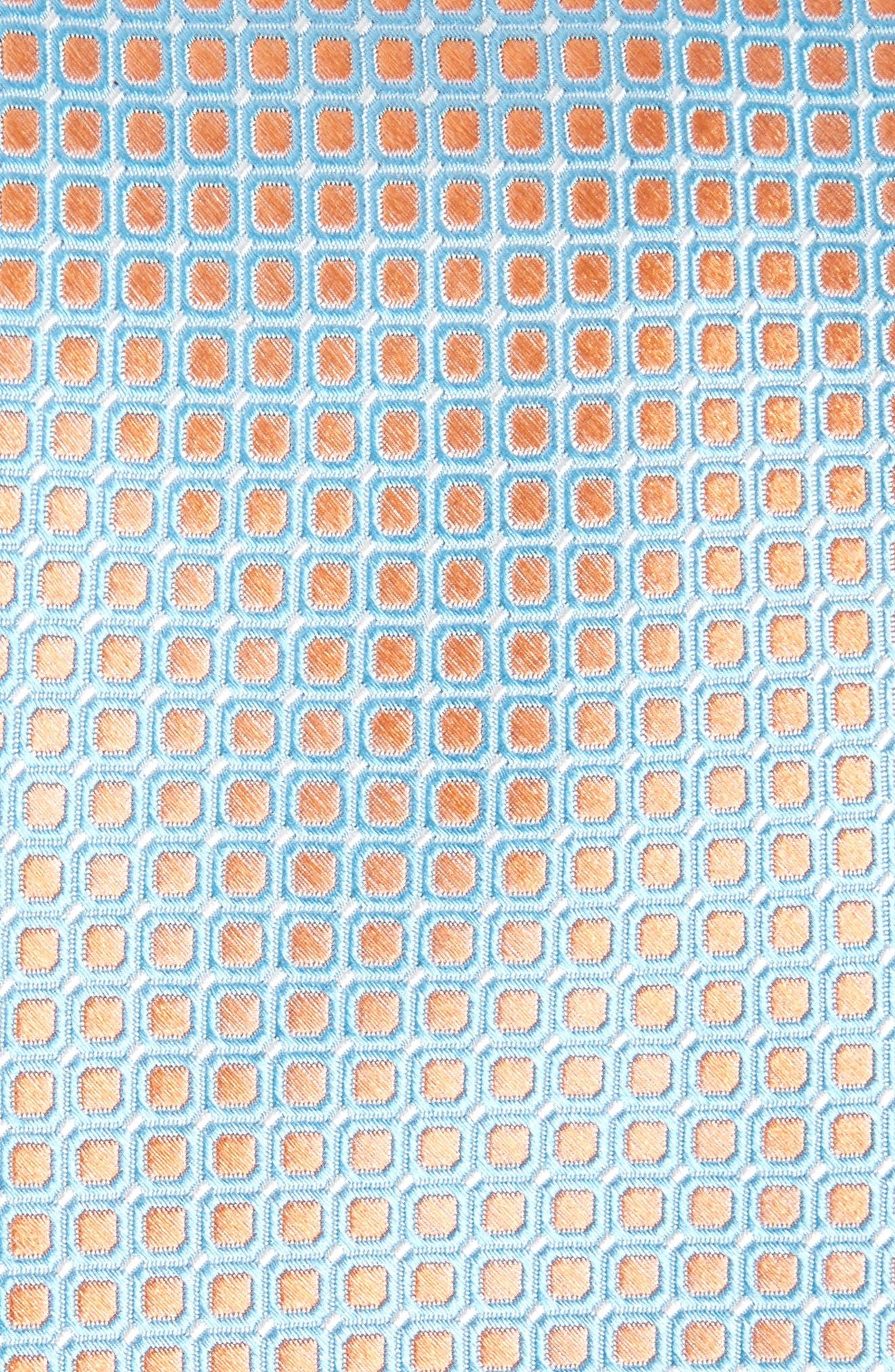 Laguna Check Silk Tie,                             Alternate thumbnail 2, color,                             Peach