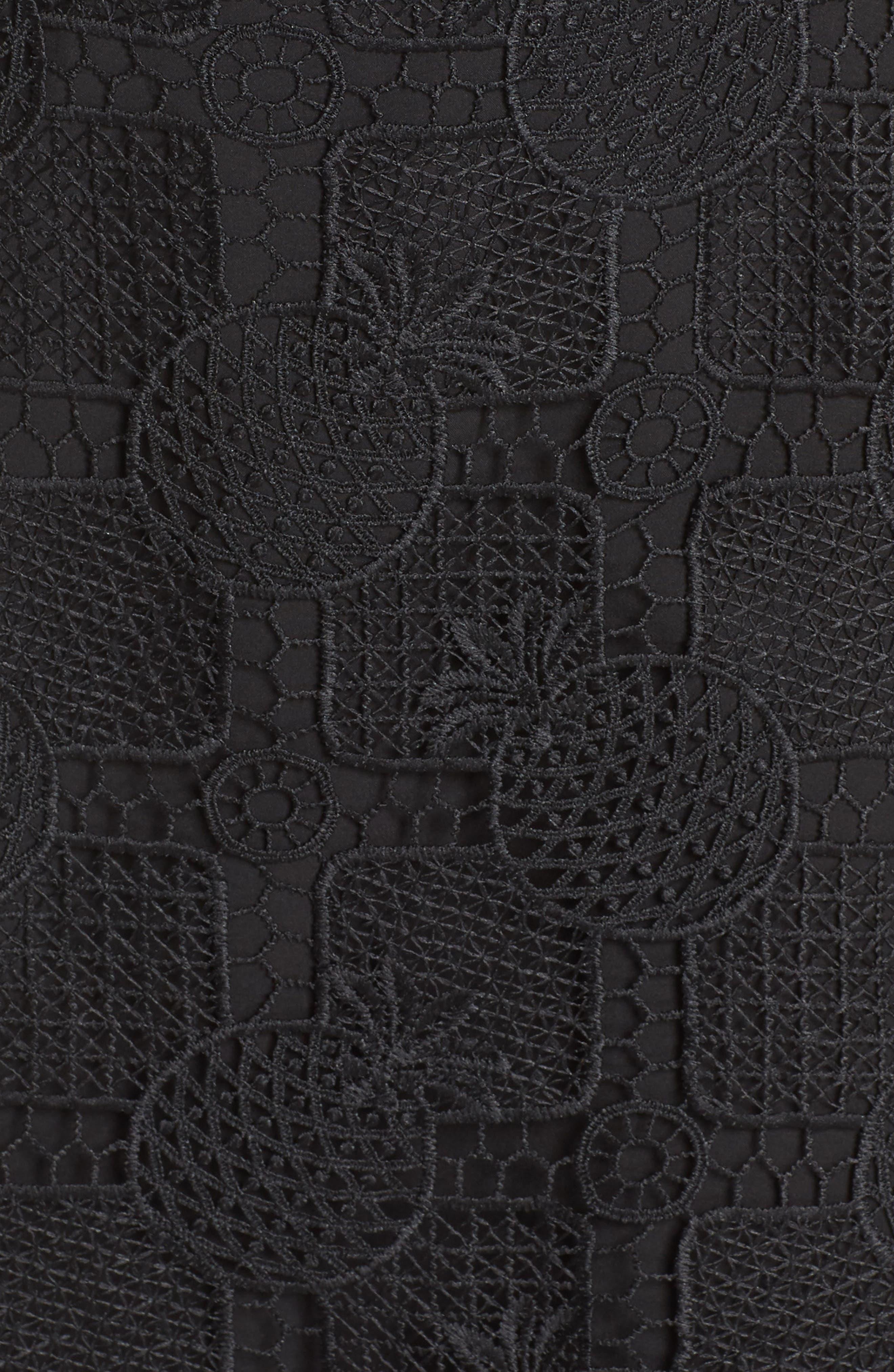 Strapless Lace Dress,                             Alternate thumbnail 5, color,                             Black