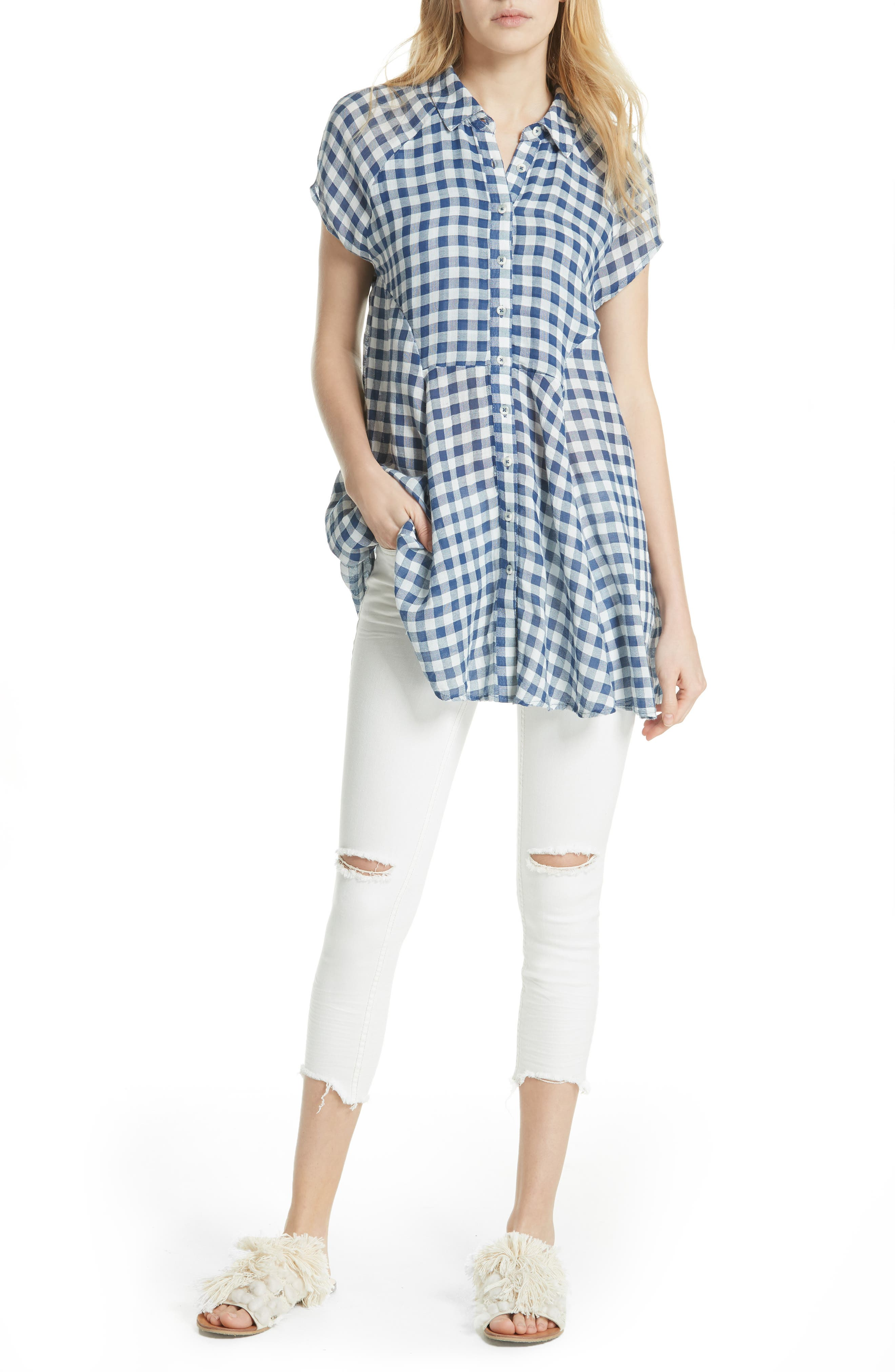 New Spring Love Tunic,                         Main,                         color, Navy