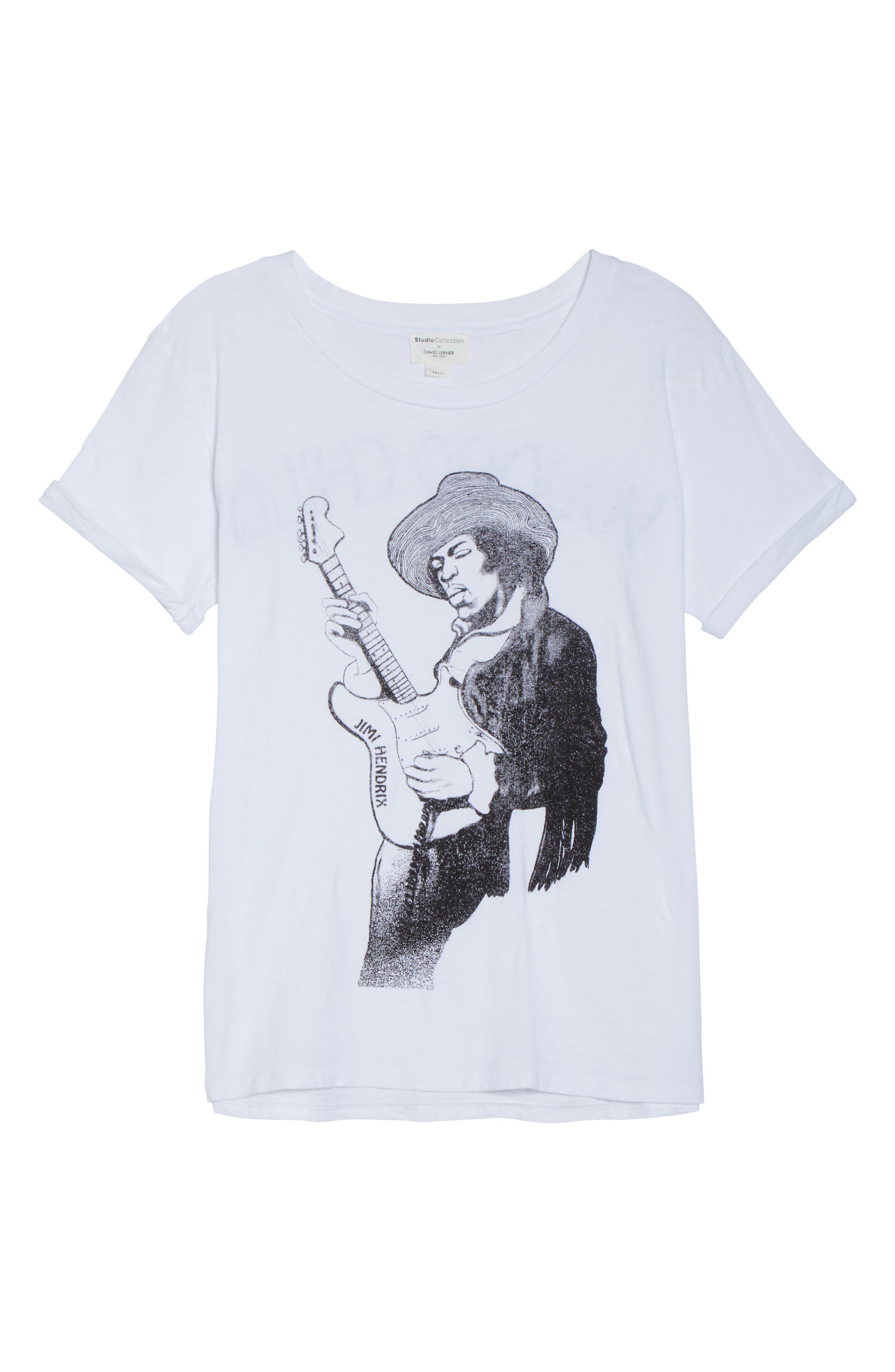 Jimi Hendrix Tee,                             Alternate thumbnail 4, color,                             White