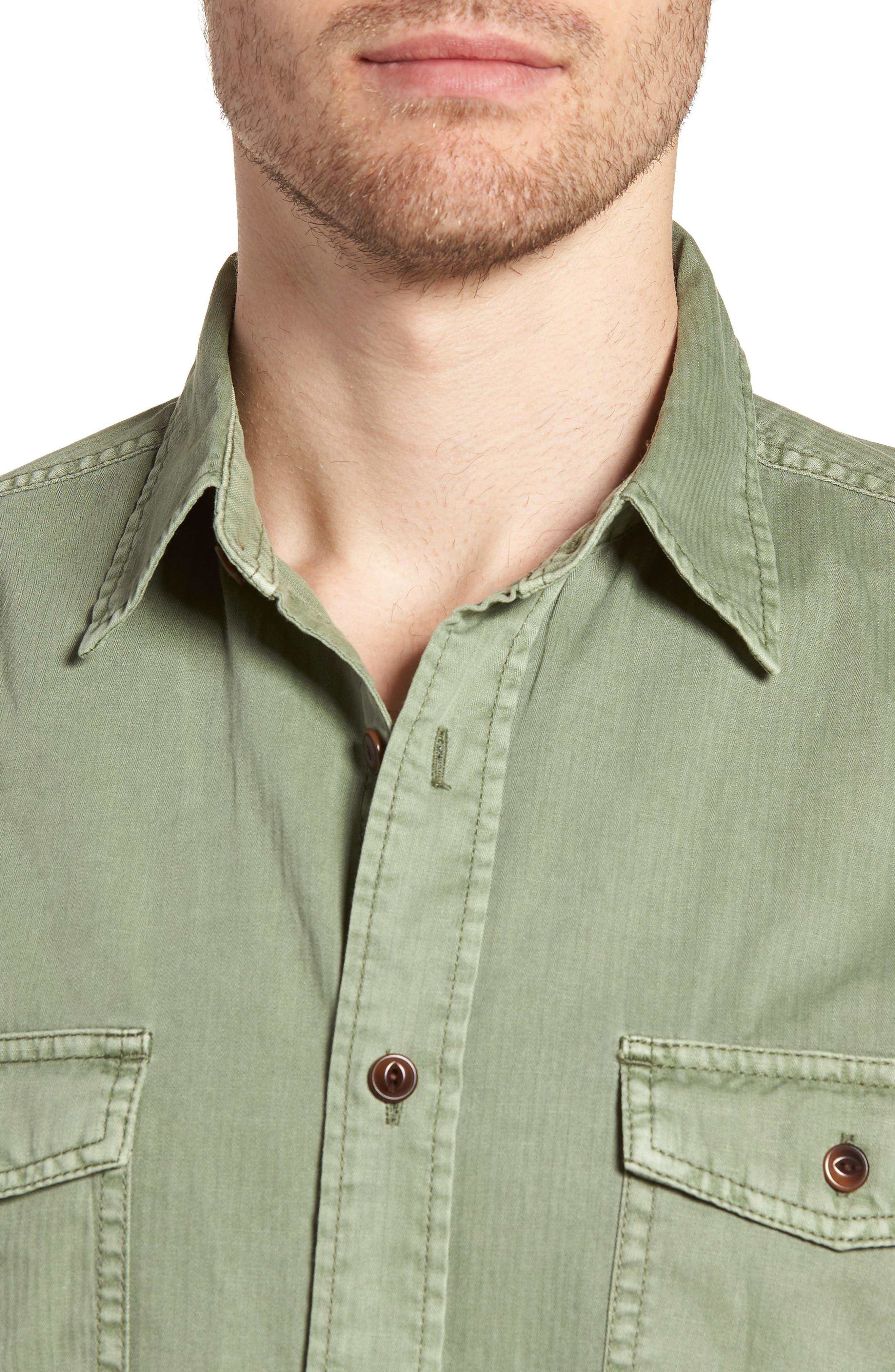 Radar Sport Shirt,                             Alternate thumbnail 4, color,                             Olive