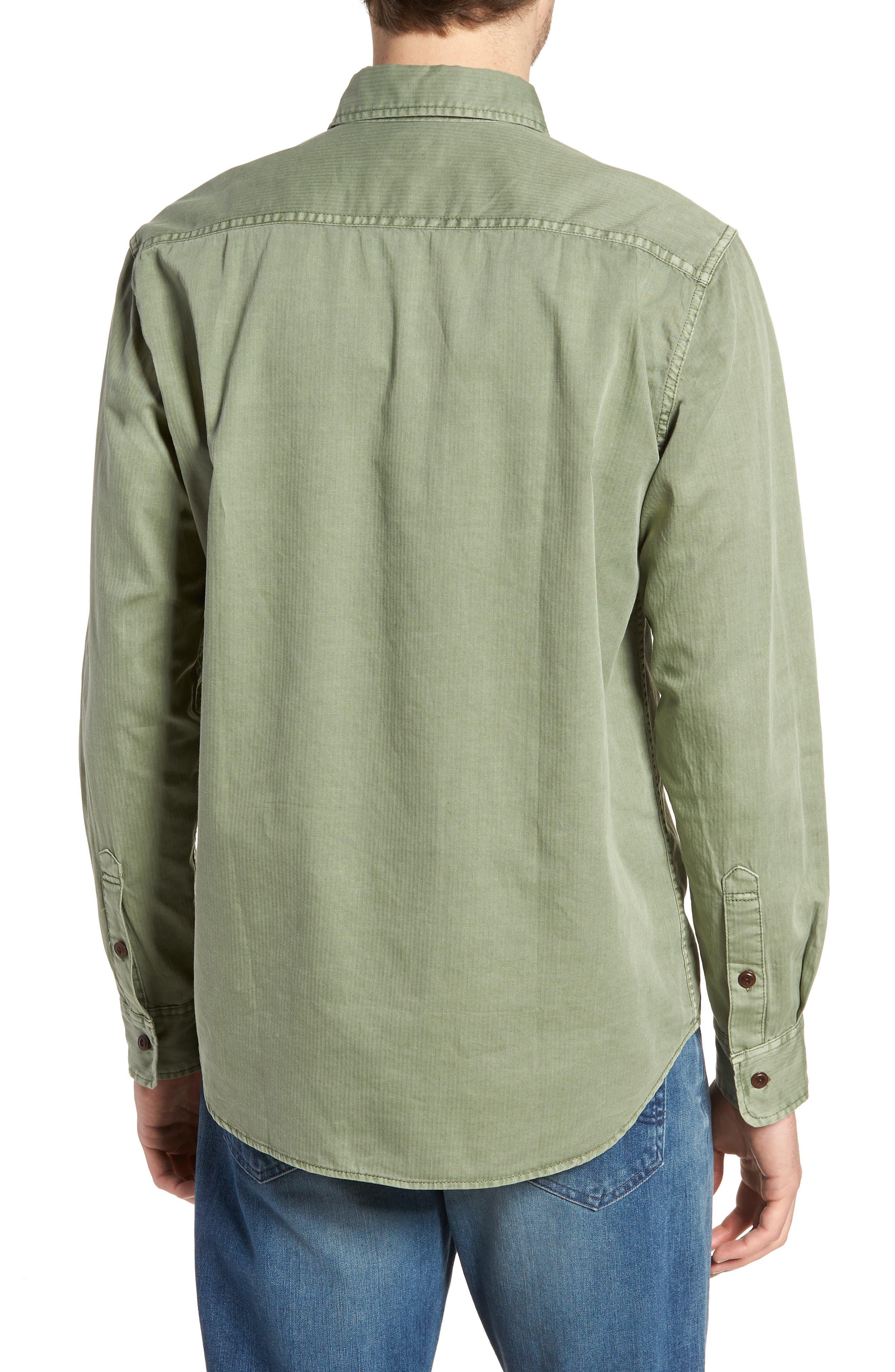 Radar Sport Shirt,                             Alternate thumbnail 2, color,                             Olive