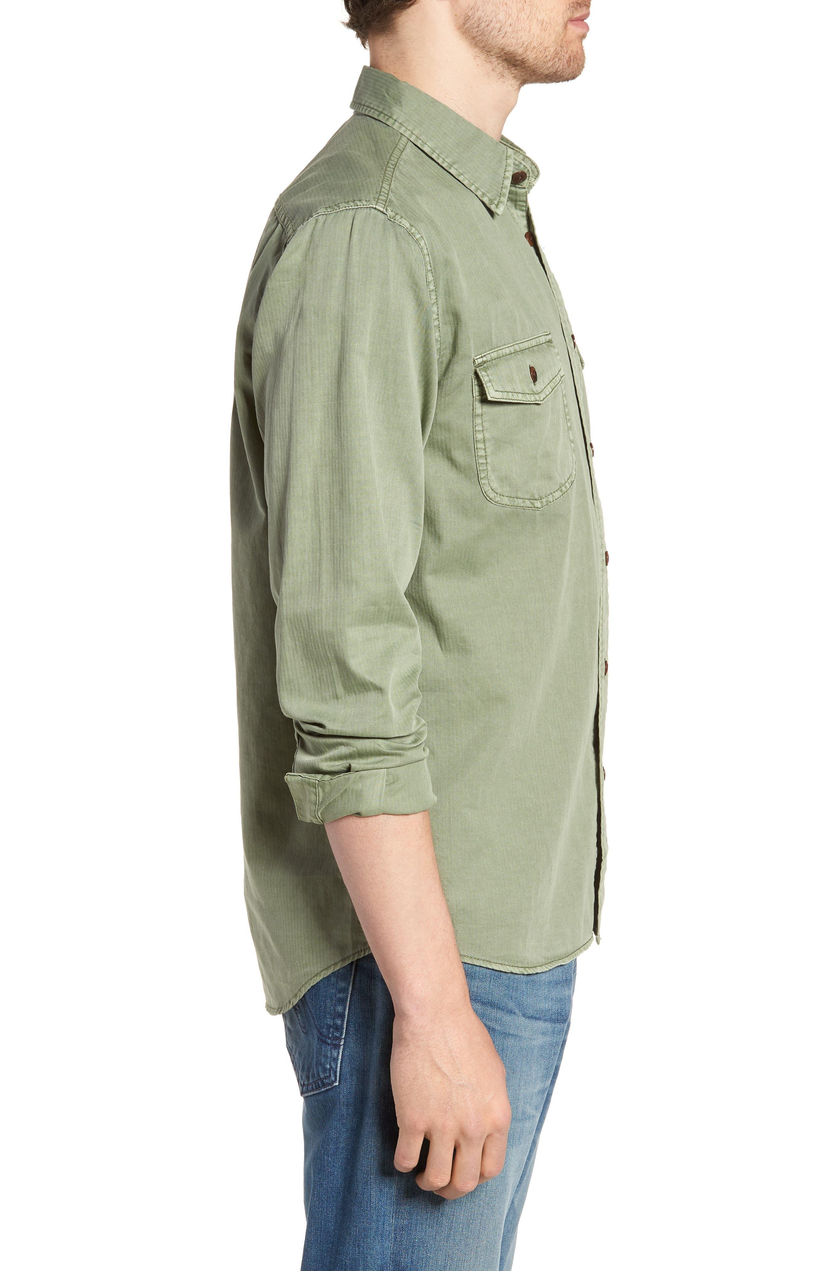 Radar Sport Shirt,                             Alternate thumbnail 3, color,                             Olive
