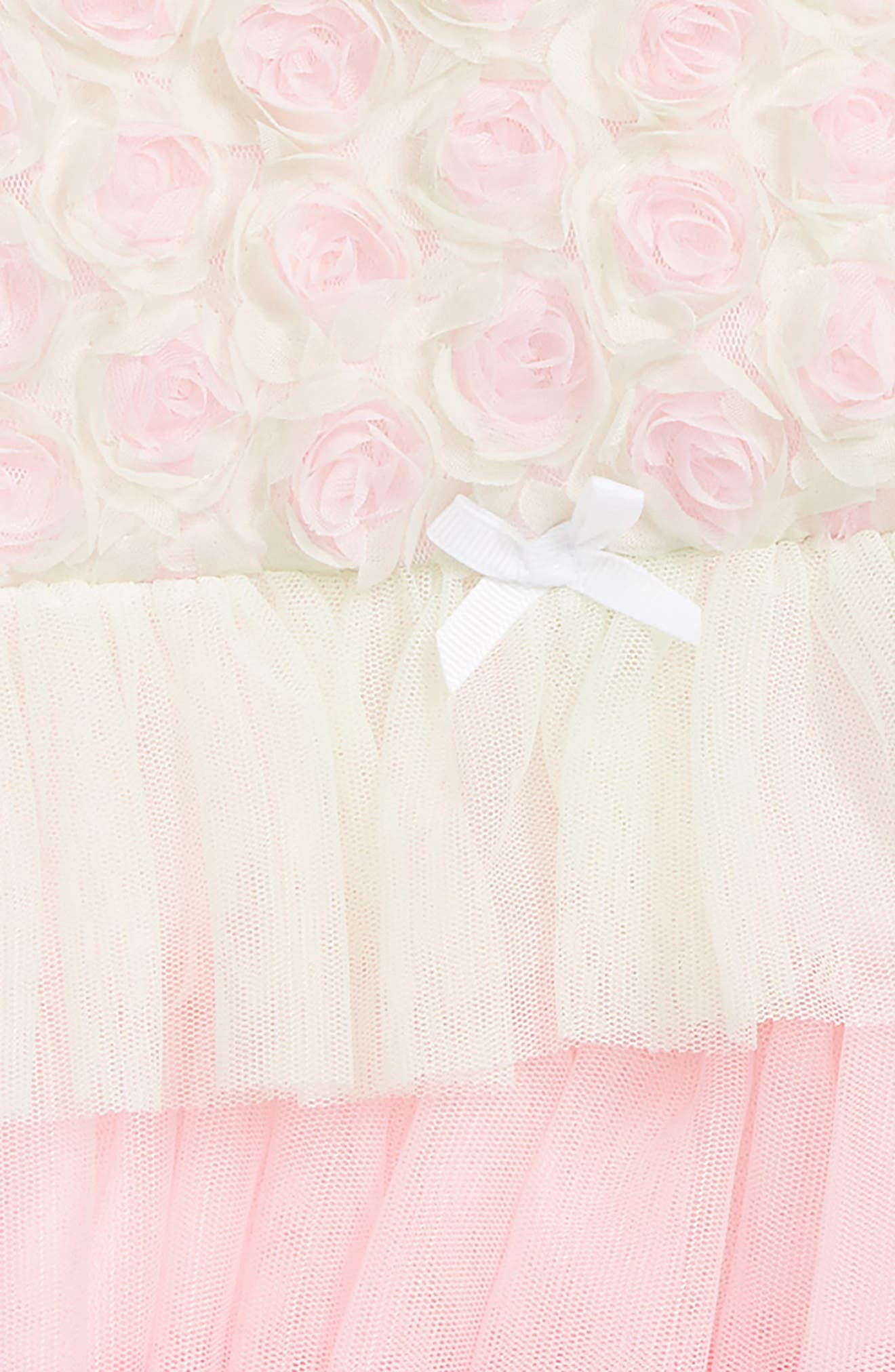 Rosette Popover Bodysuit & Head Wrap Set,                             Alternate thumbnail 2, color,                             Pink Multi