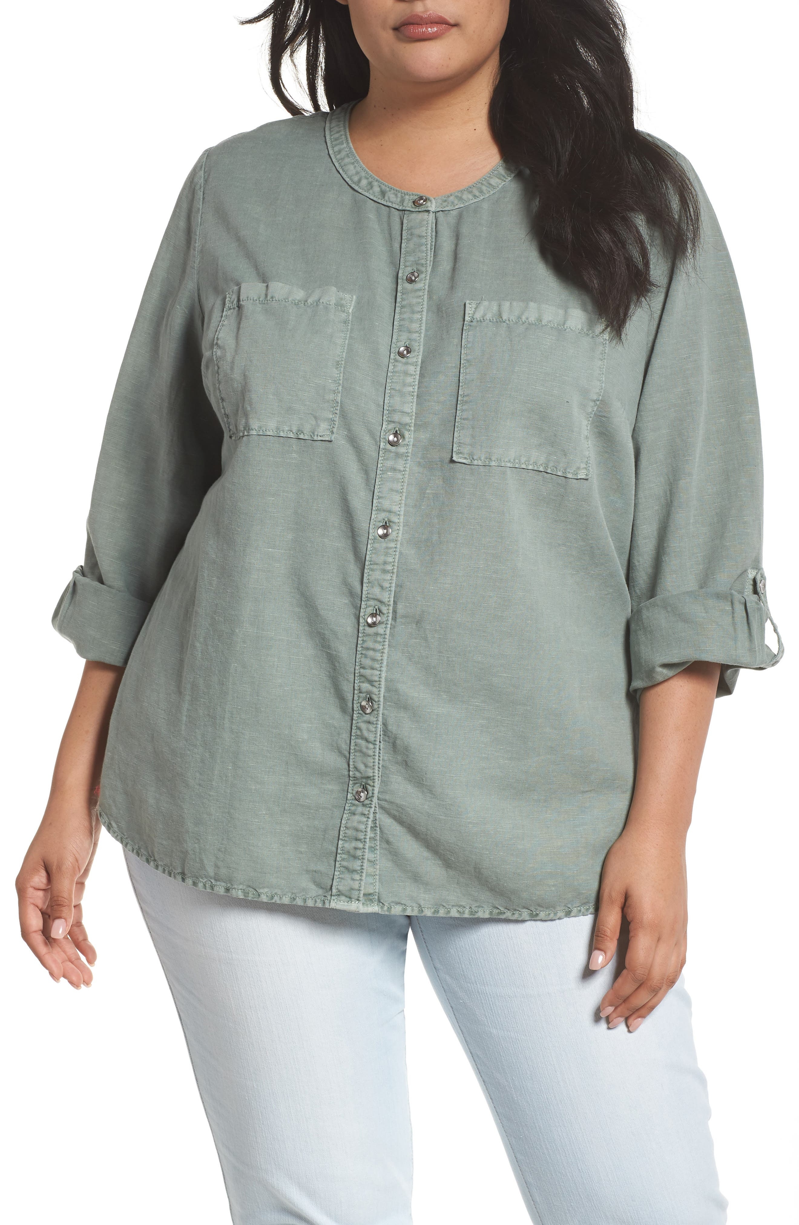 Long Sleeve Top,                         Main,                         color, Green Lilypad