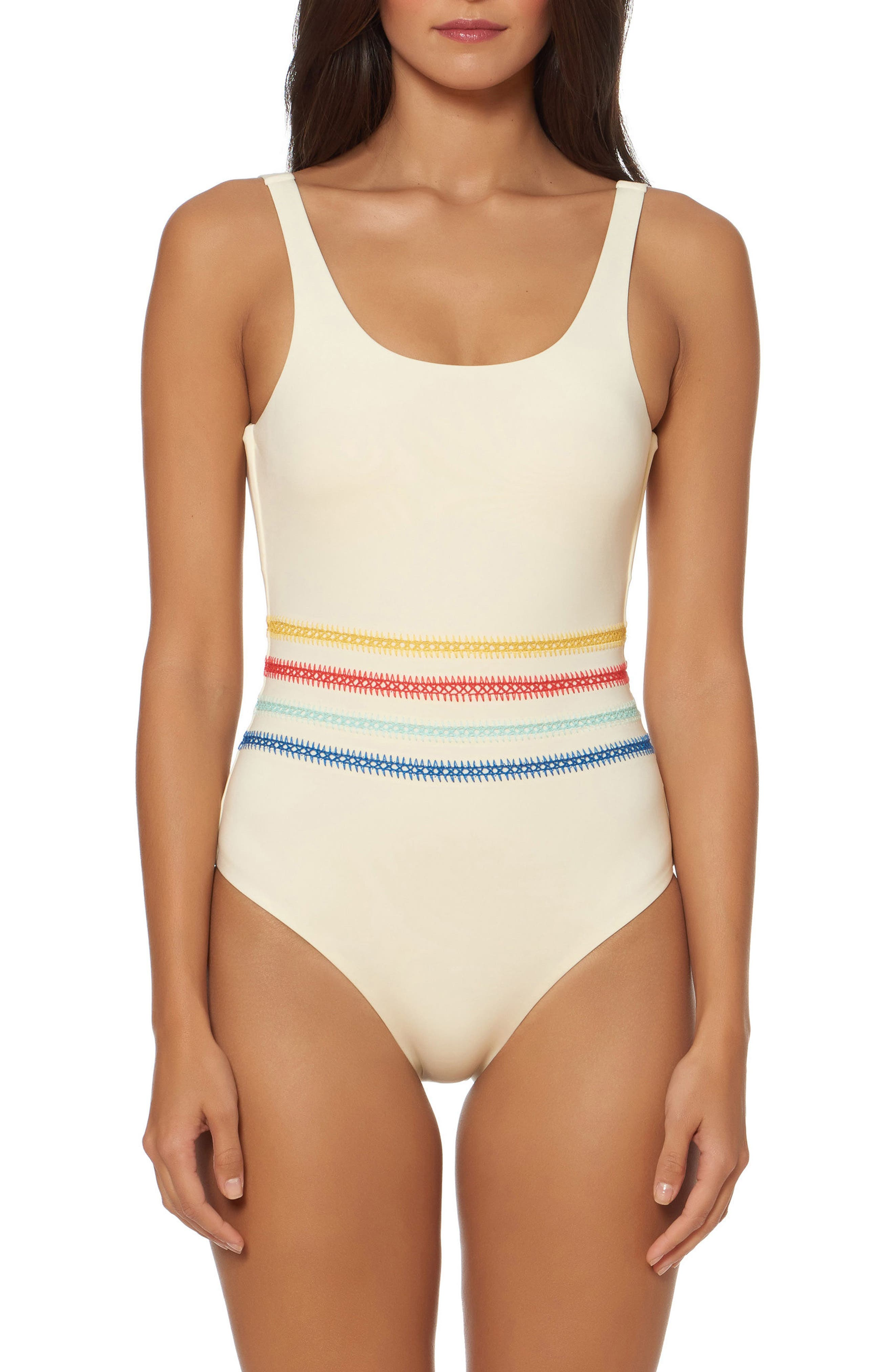 Alternate Image 1 Selected - Dolce Vita Embroidered One-Piece Swimsuit