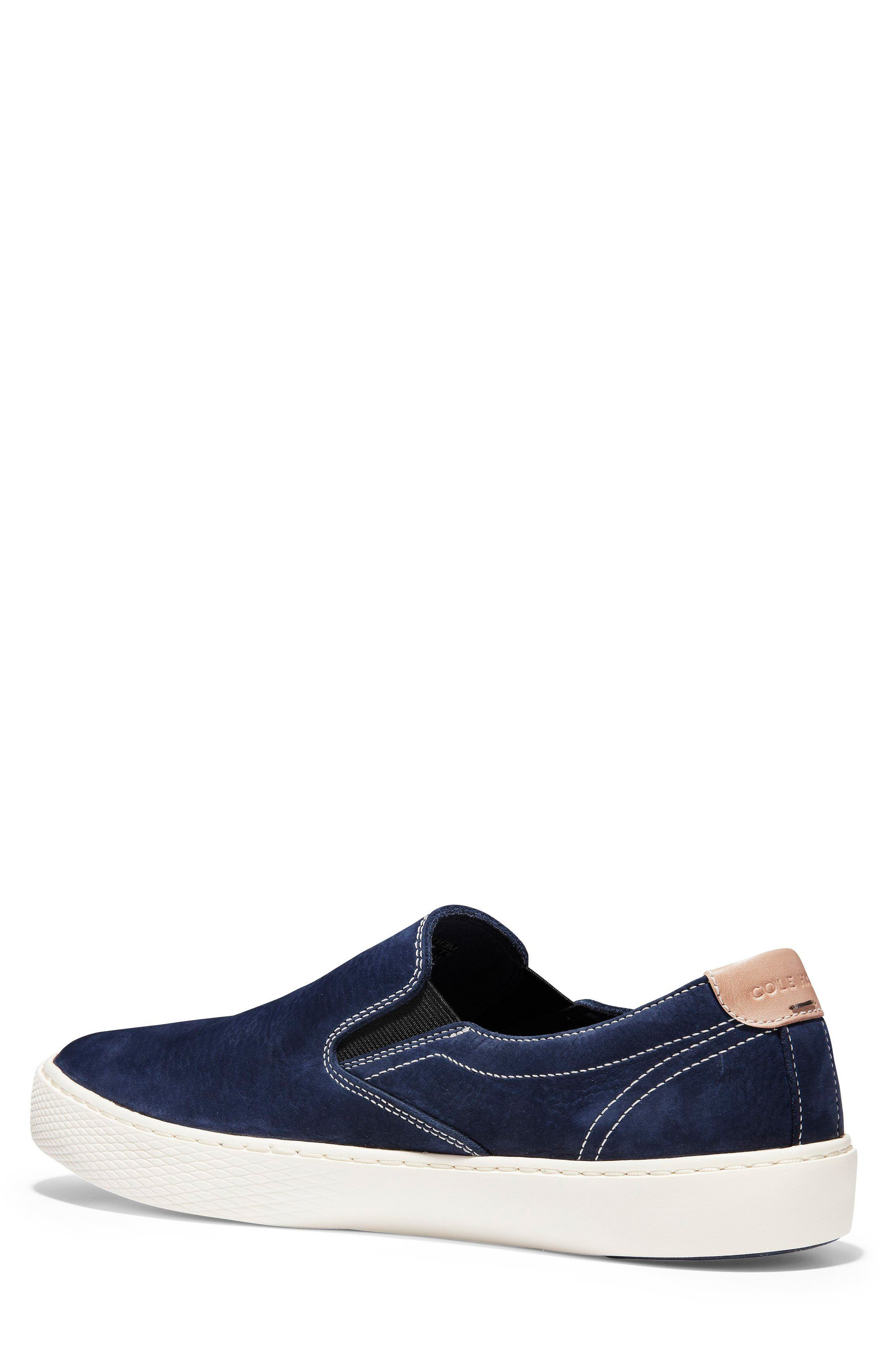 GrandPrø Deck Slip-On Sneaker,                             Alternate thumbnail 2, color,                             Marine Blue Nubuck