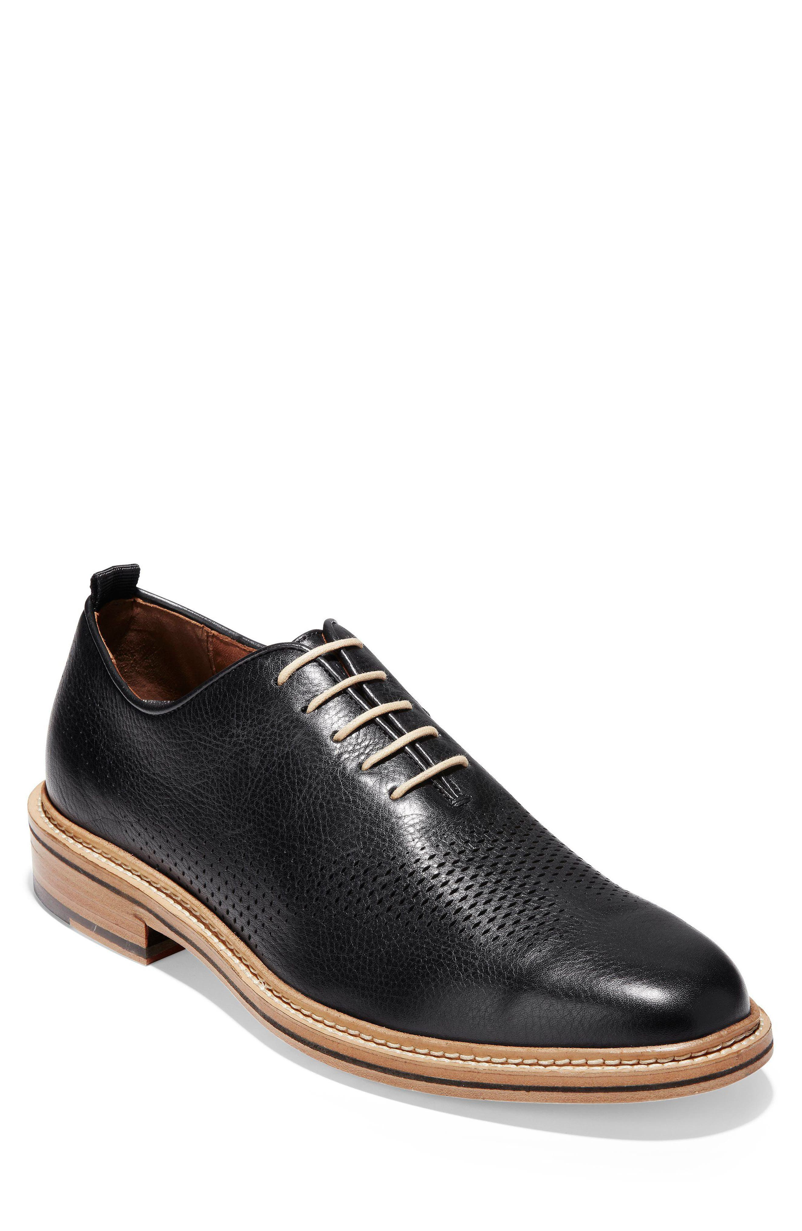 Washington Grand Wingtip,                         Main,                         color, Black Leather