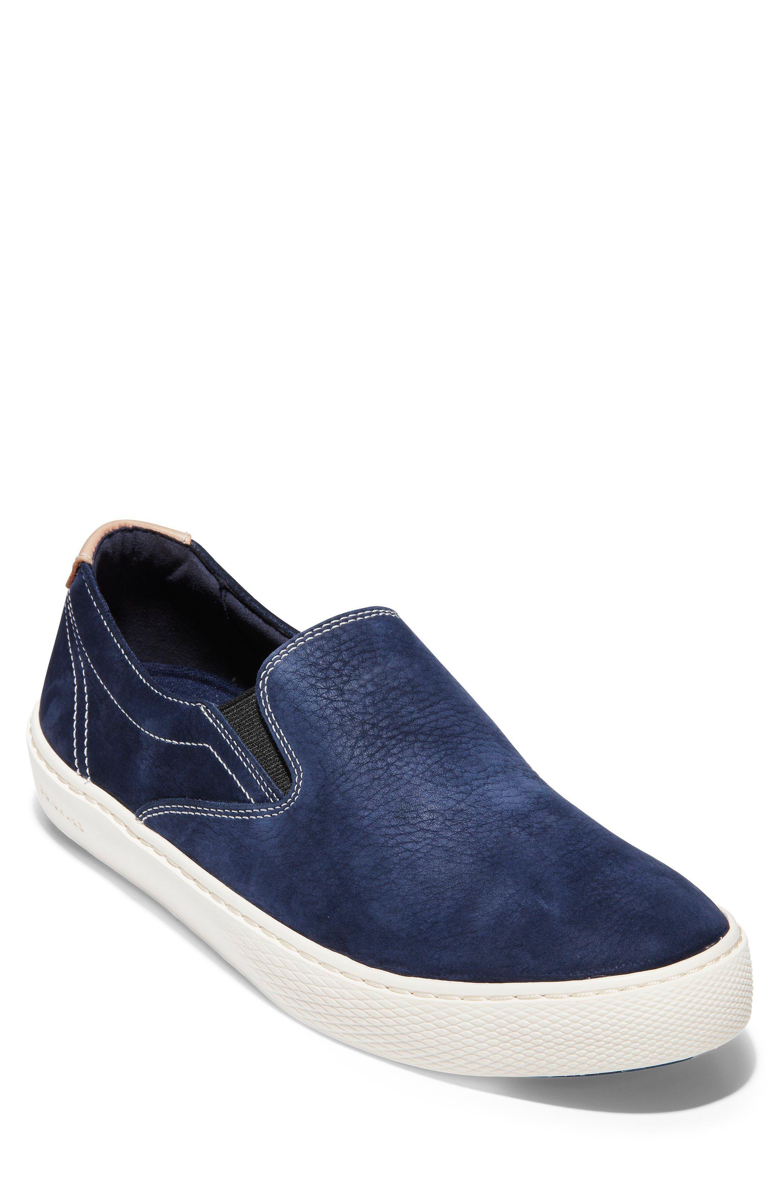 GrandPrø Deck Slip-On Sneaker,                             Main thumbnail 1, color,                             Marine Blue Nubuck