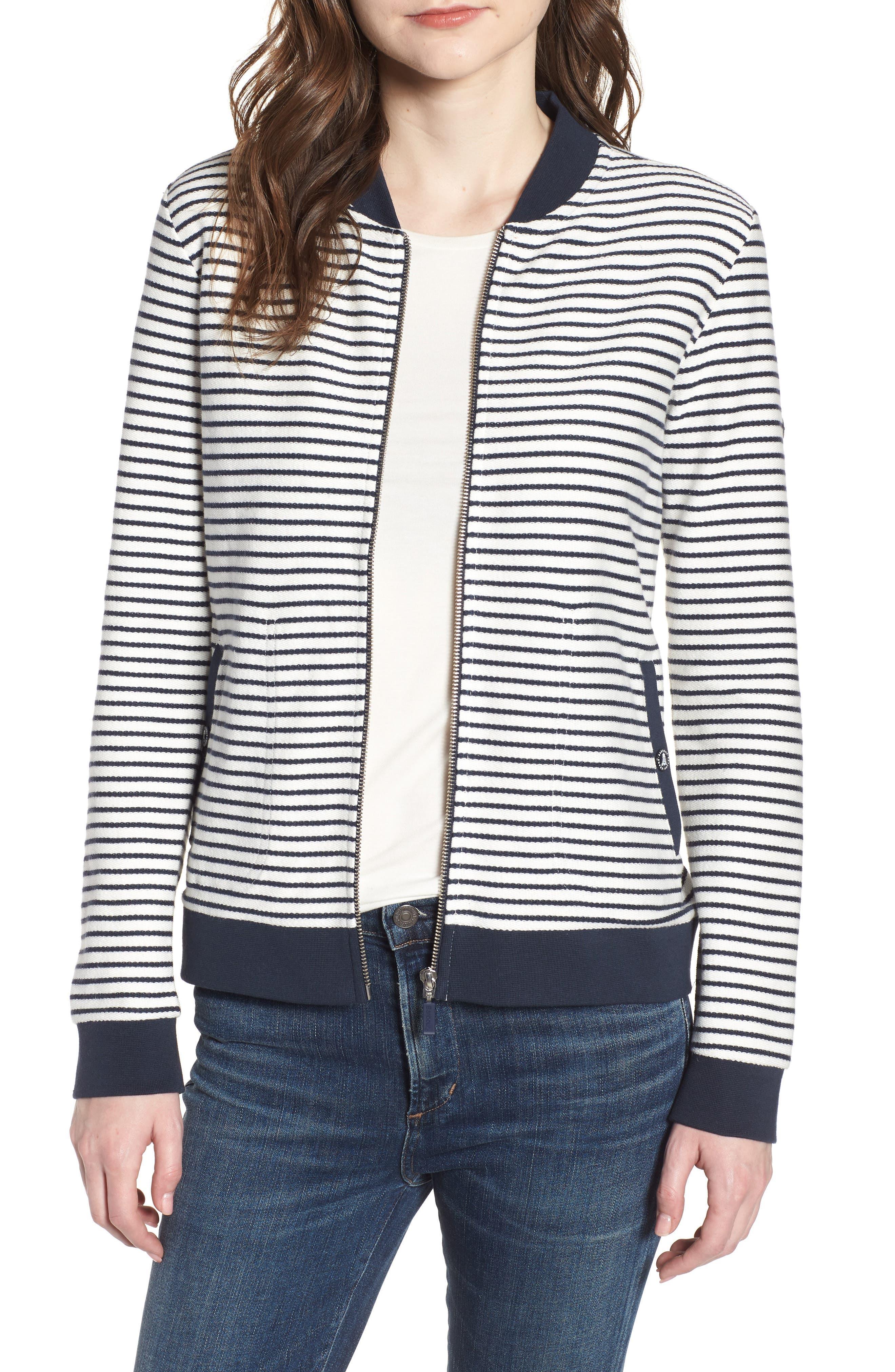 Bamburgh Sweater Jacket,                             Main thumbnail 1, color,                             White/ Navy