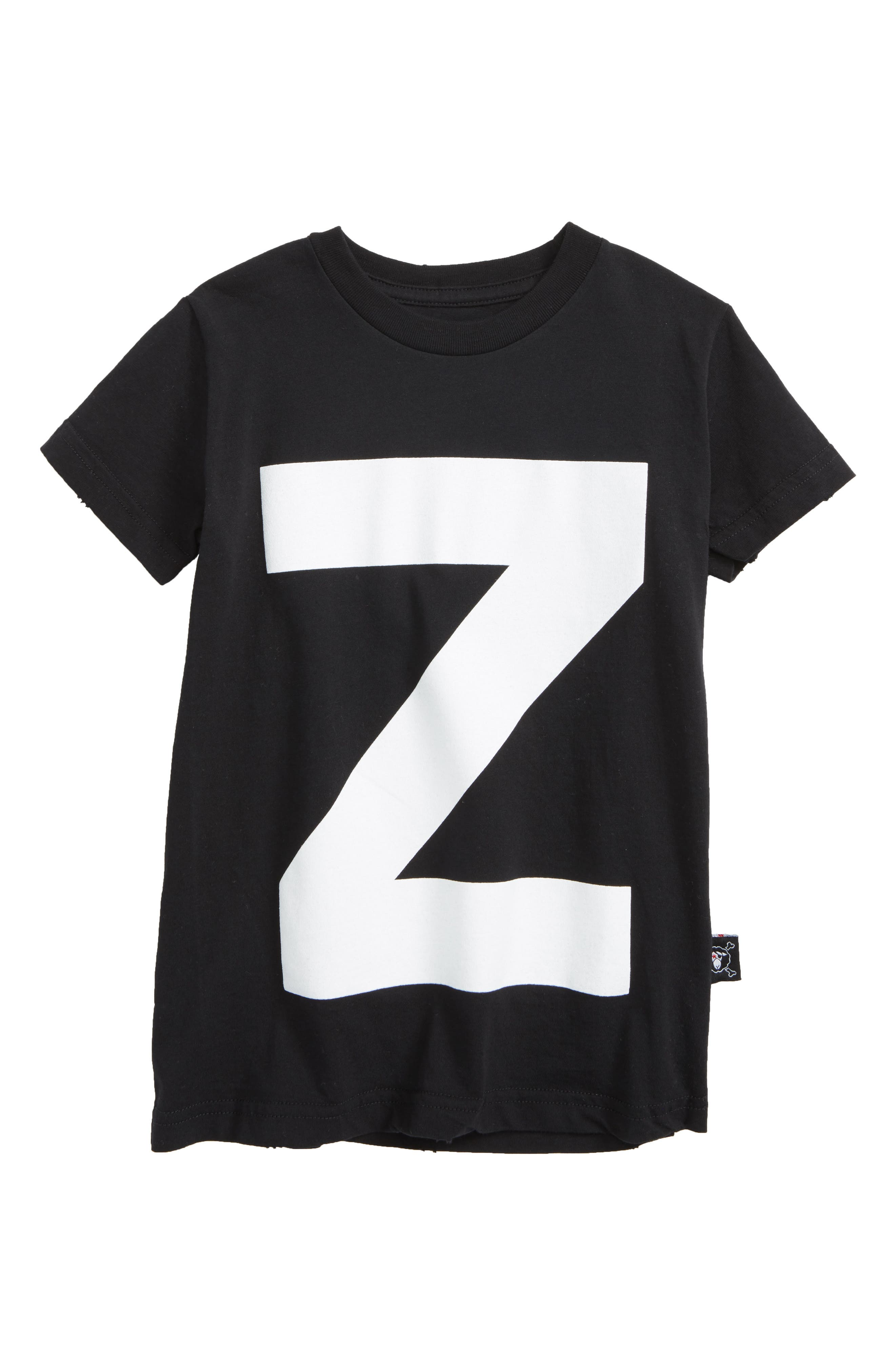 Z Graphic T-Shirt,                             Main thumbnail 1, color,                             Black