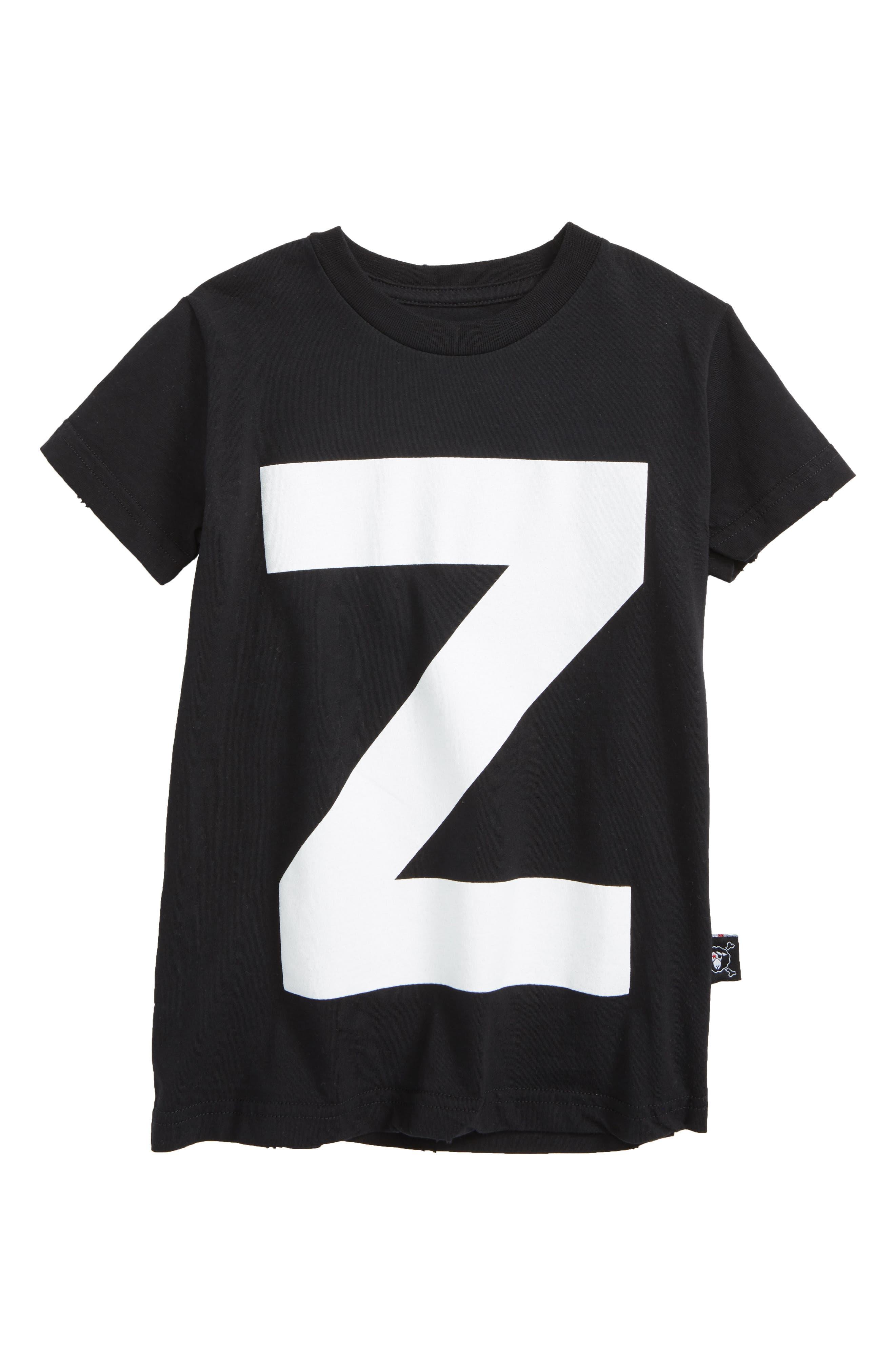 Z Graphic T-Shirt,                         Main,                         color, Black