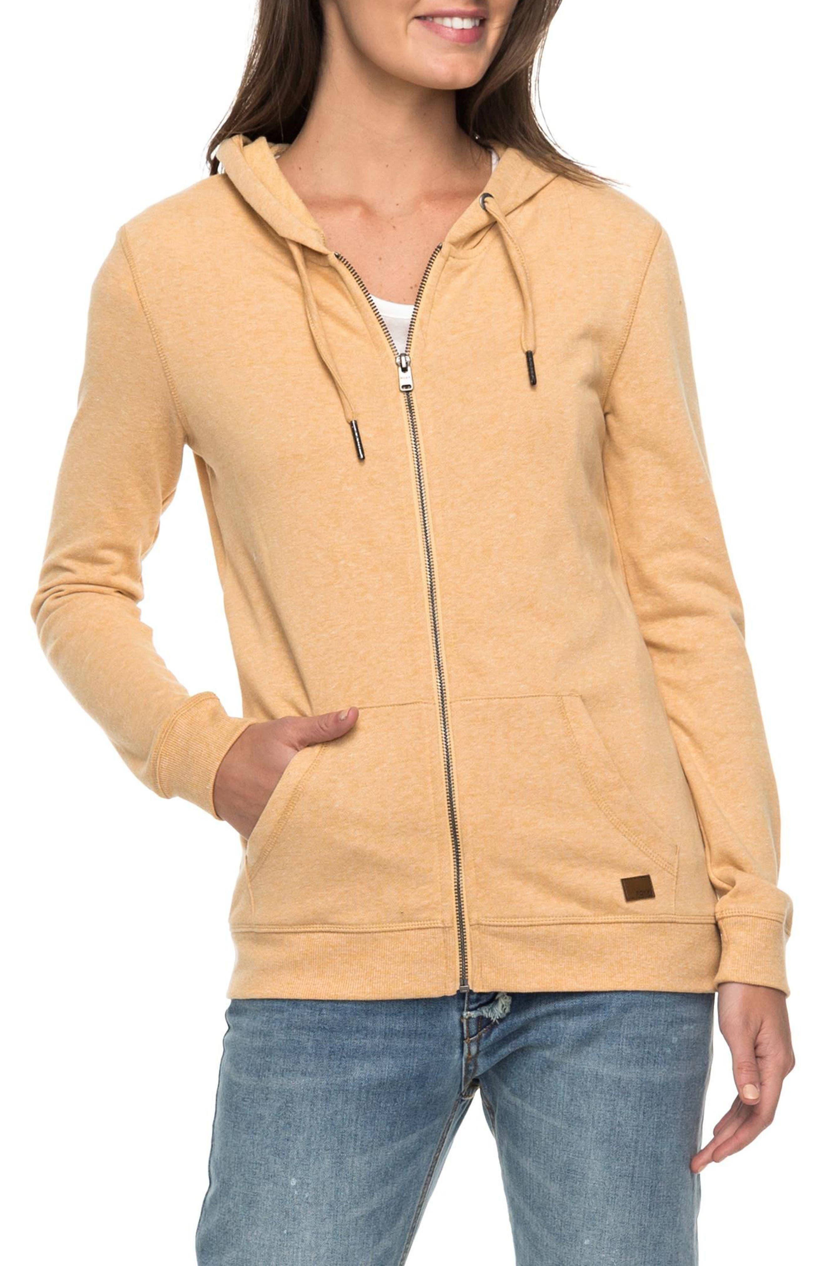 Trippin Hoodie,                         Main,                         color, Buff Yellow Heather