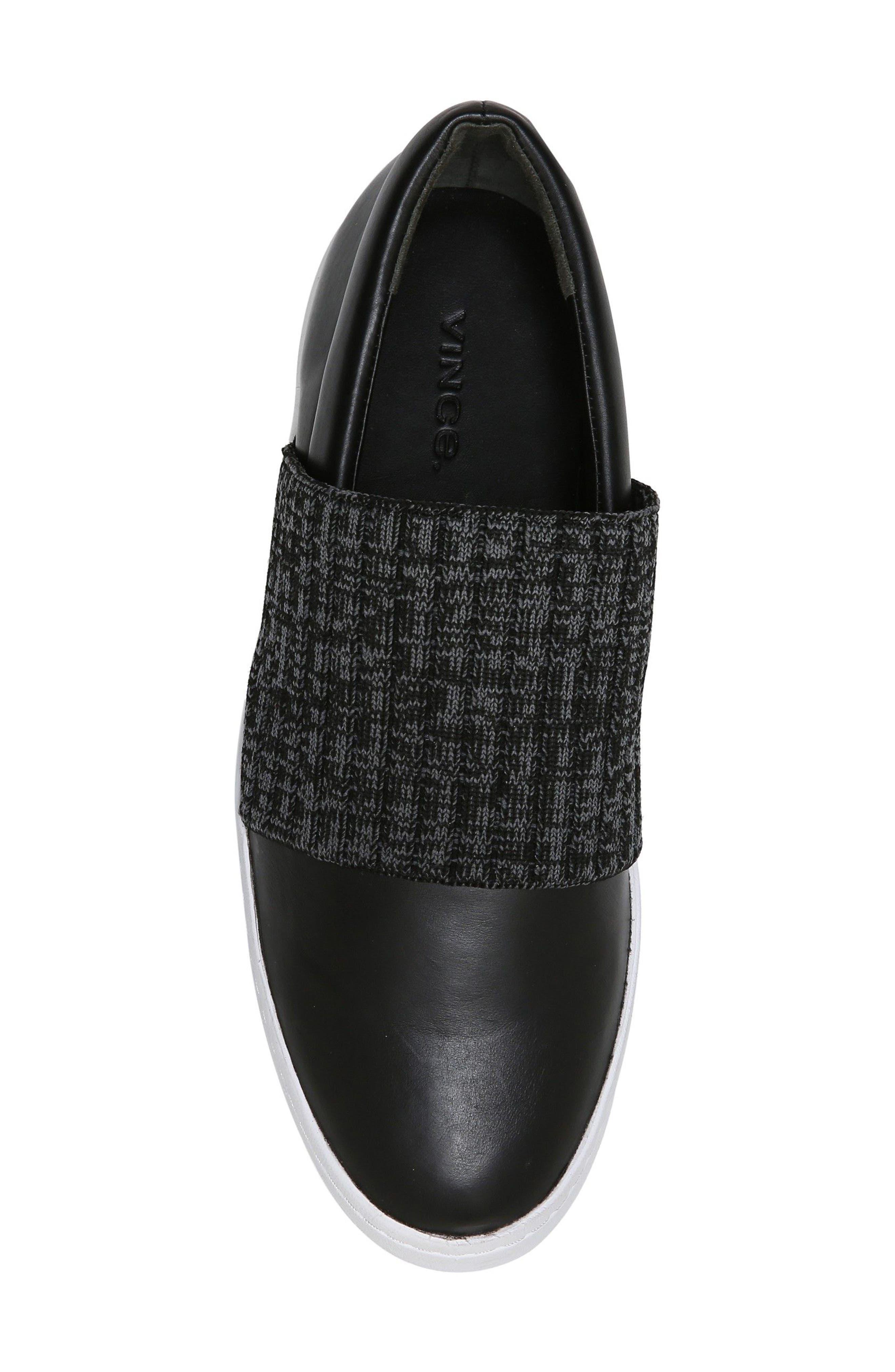 Weadon Slip-On Sneaker,                             Alternate thumbnail 5, color,                             Black Siviglia Calf