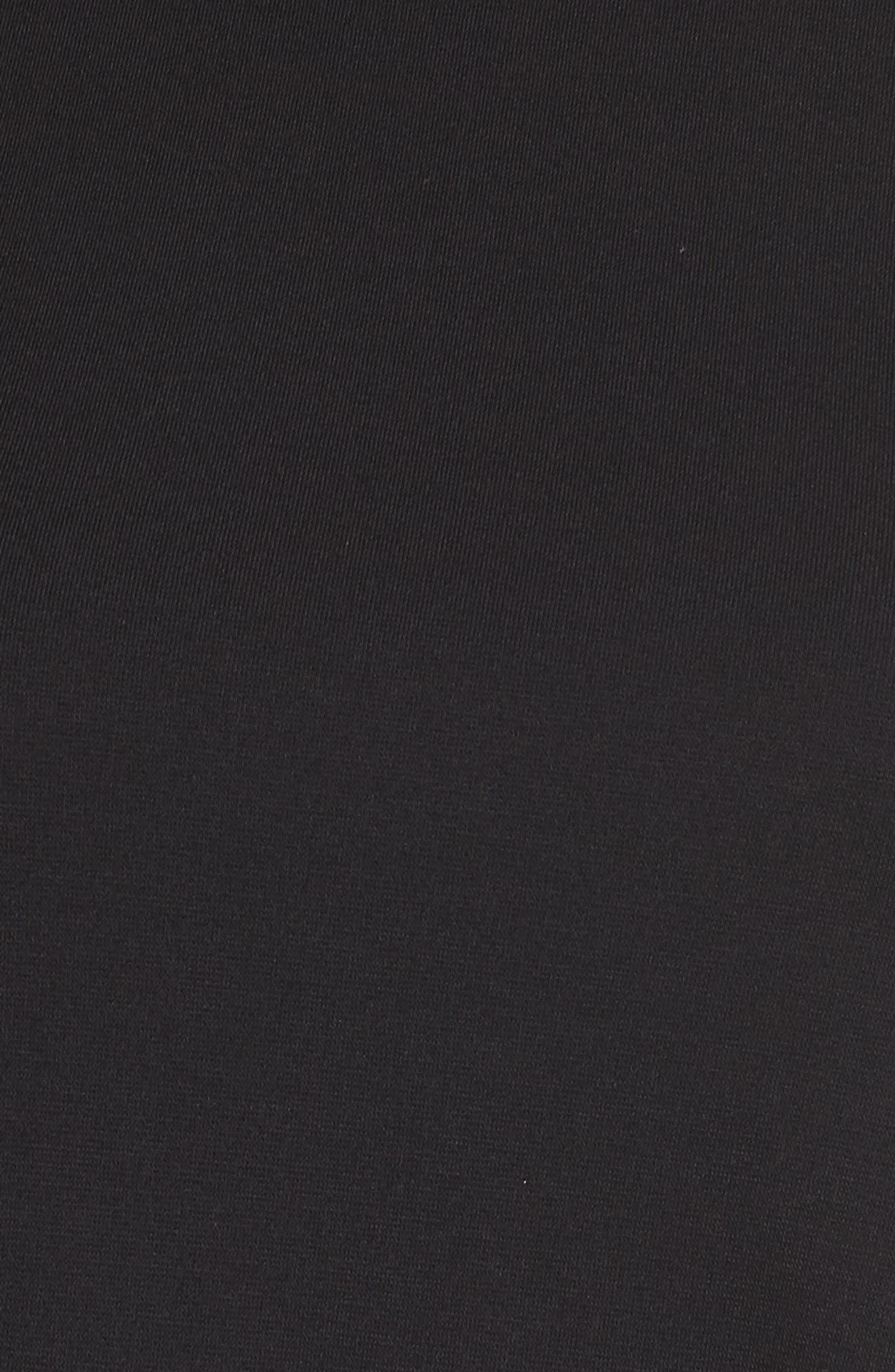Crepe Chiffon Swing Dress,                             Alternate thumbnail 5, color,                             Black