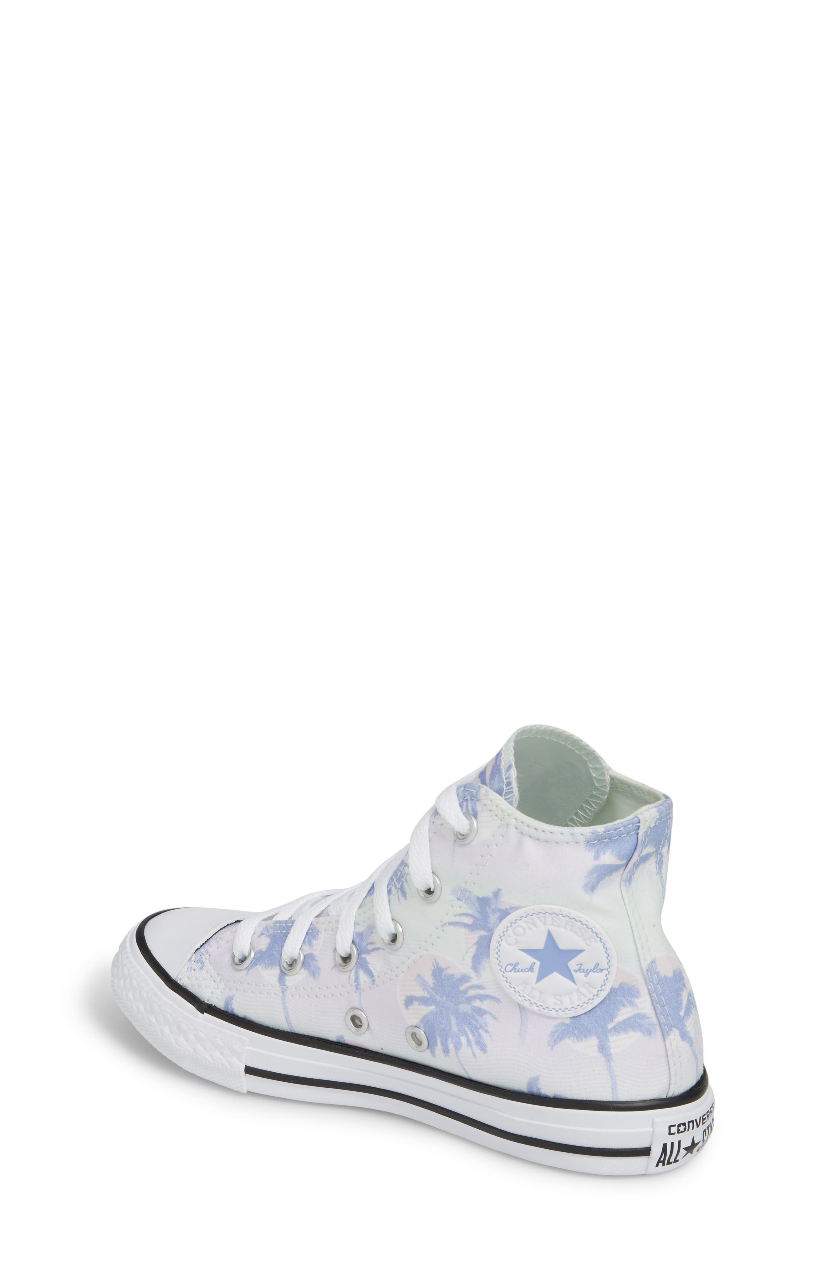 Chuck Taylor<sup>®</sup> All Star<sup>®</sup> Palm Tree High Top Sneaker,                             Alternate thumbnail 2, color,                             Purple