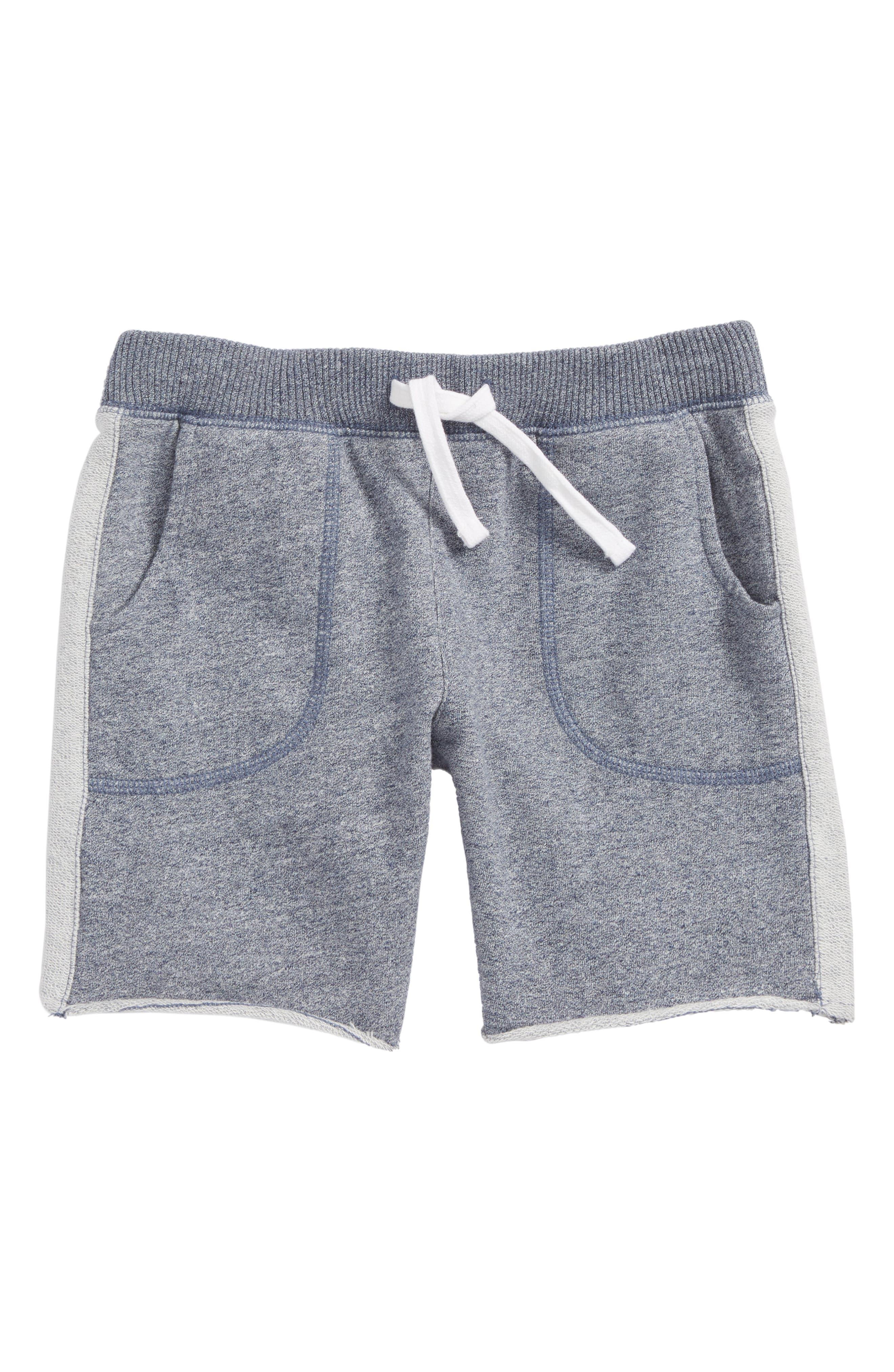 Fleece Shorts,                             Main thumbnail 1, color,                             Navy Denim