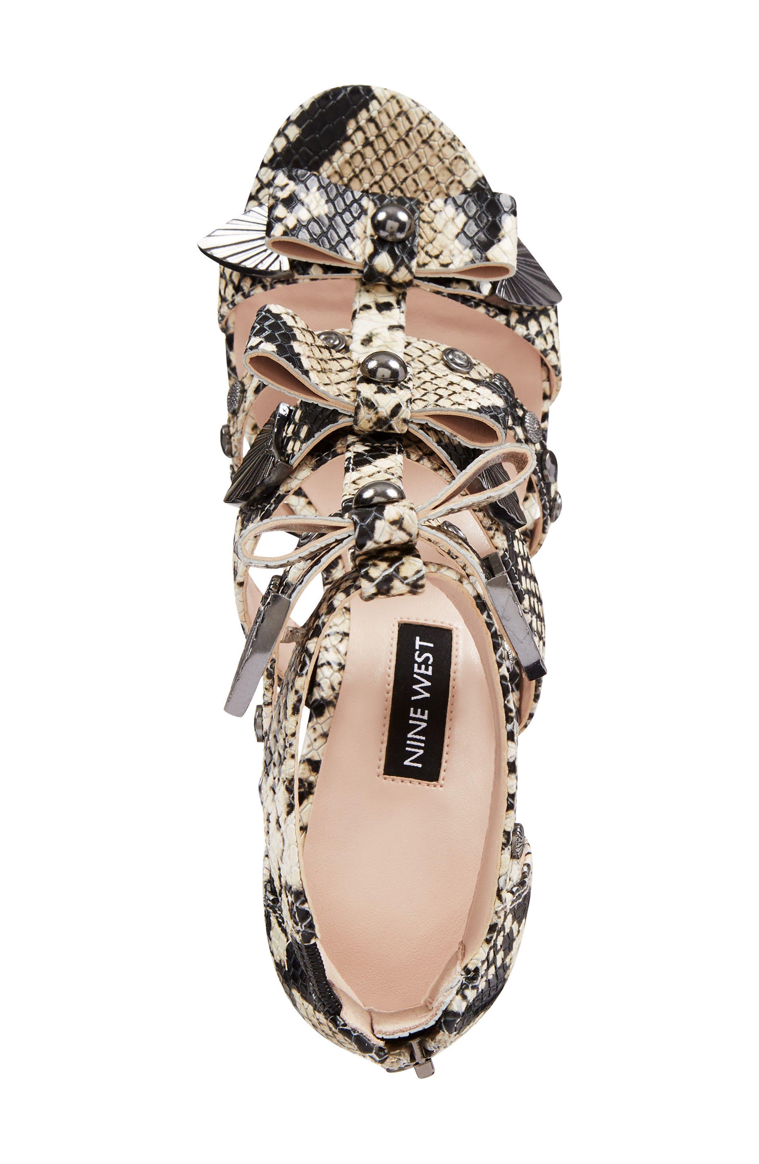 Giovanna Studded Sandal,                             Alternate thumbnail 5, color,                             Off White