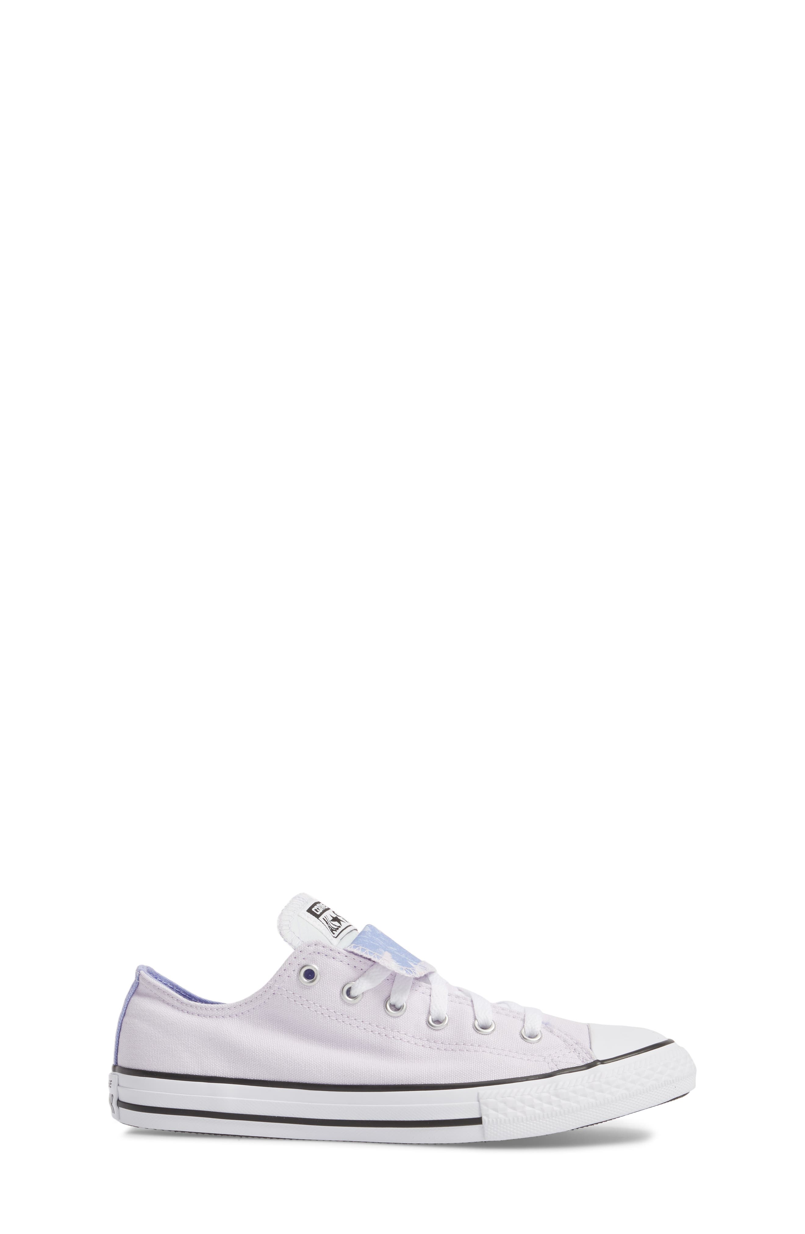 Chuck Taylor<sup>®</sup> All Star<sup>®</sup> Palm Tree Double Tongue Low Top Sneaker,                             Alternate thumbnail 3, color,                             Barely Grape