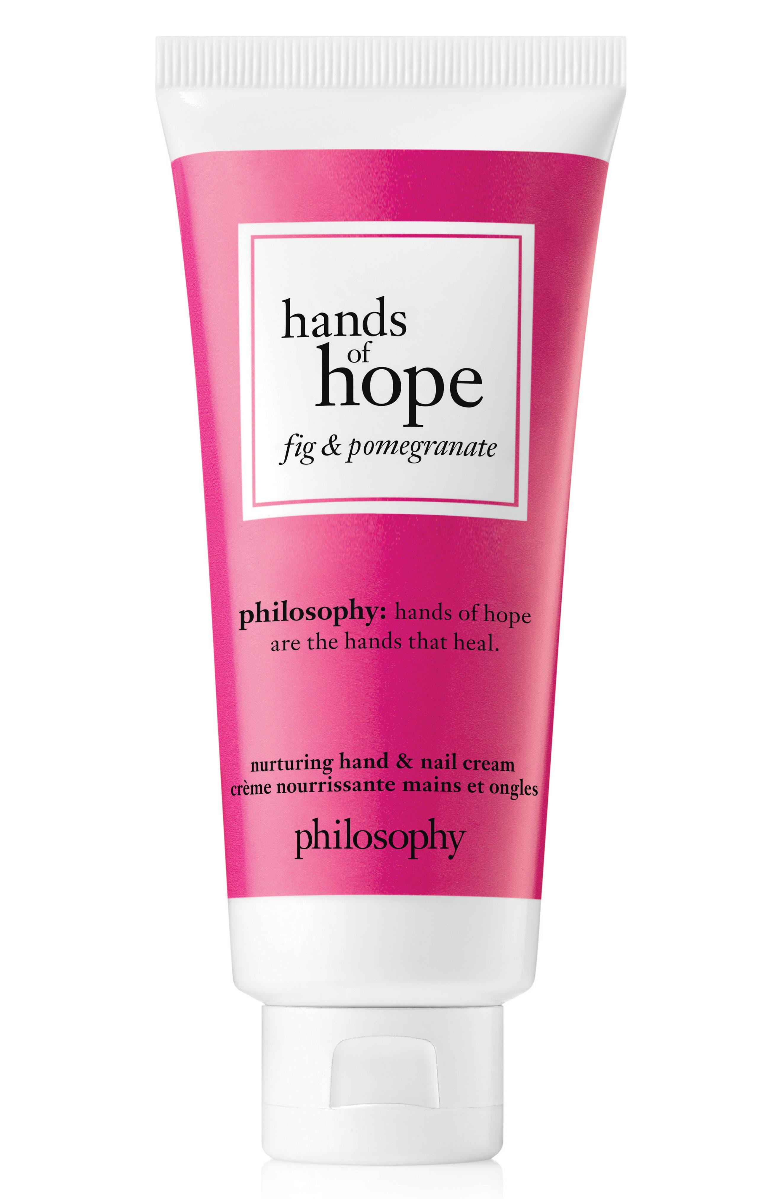 nurturing hand & nail cream,                         Main,                         color, Fig Pomegranite