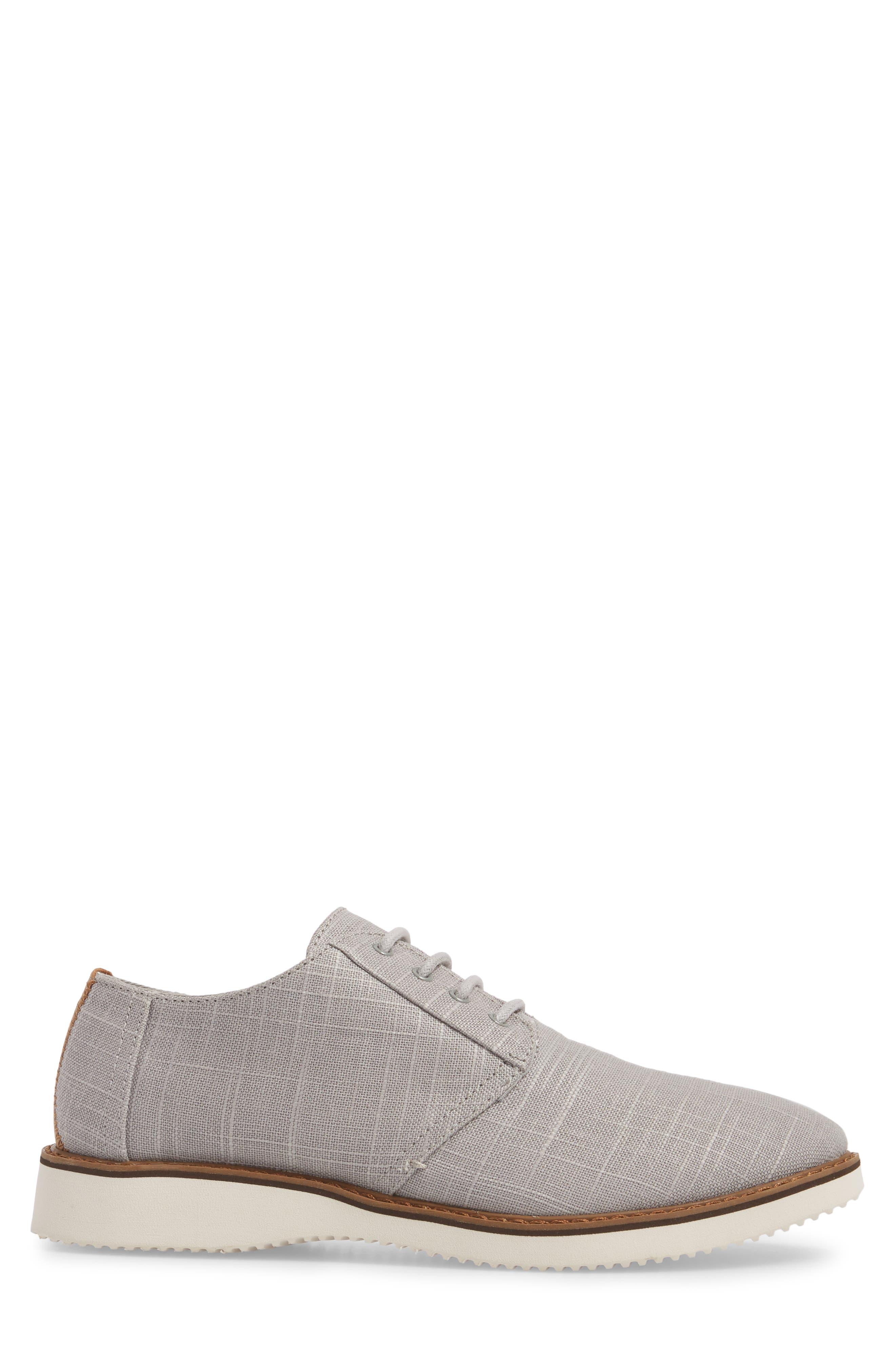 Preston Plain Toe Derby,                             Alternate thumbnail 3, color,                             Grey Linen