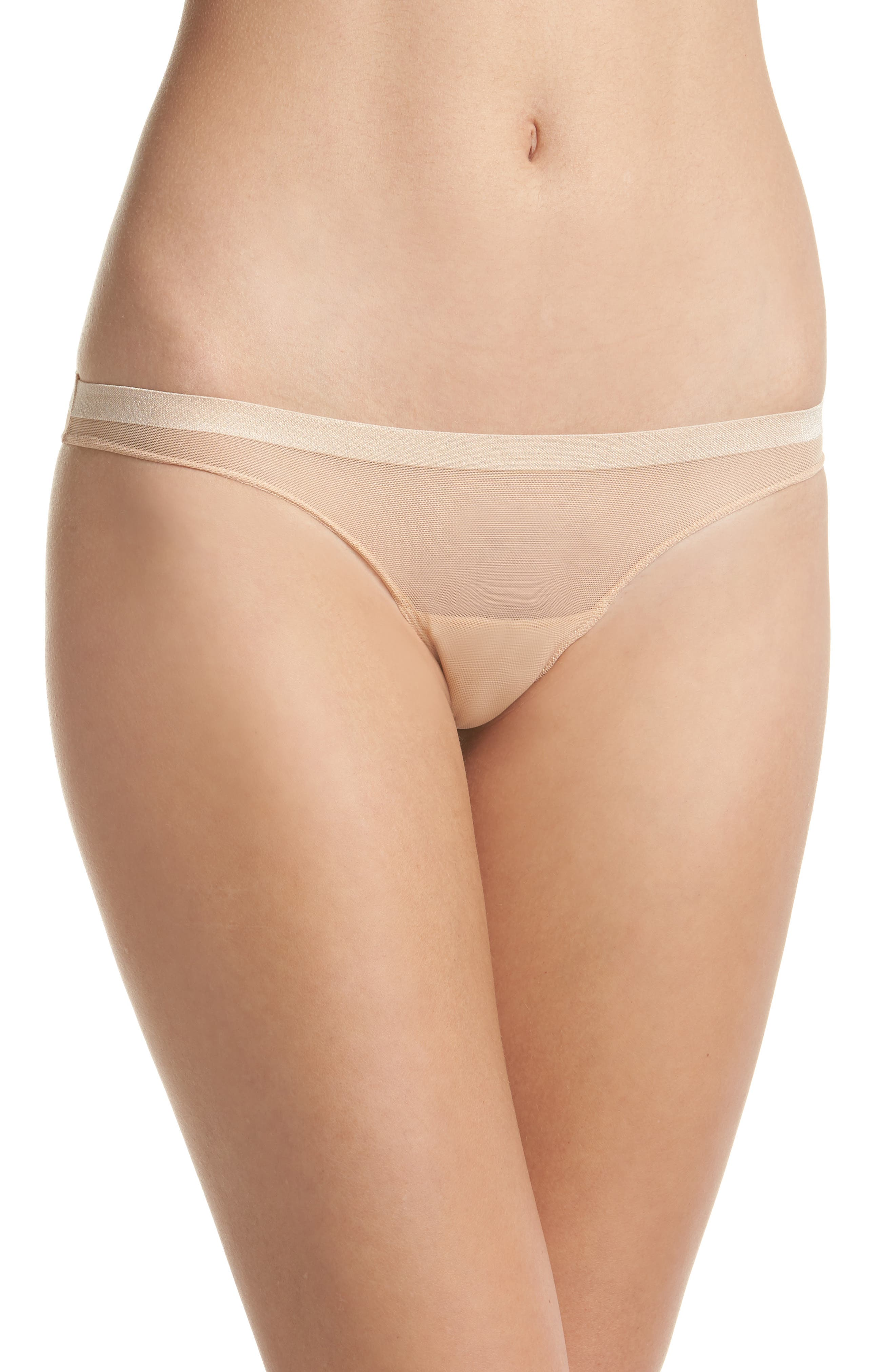 Roxanne Mesh Bikini,                         Main,                         color, Nude