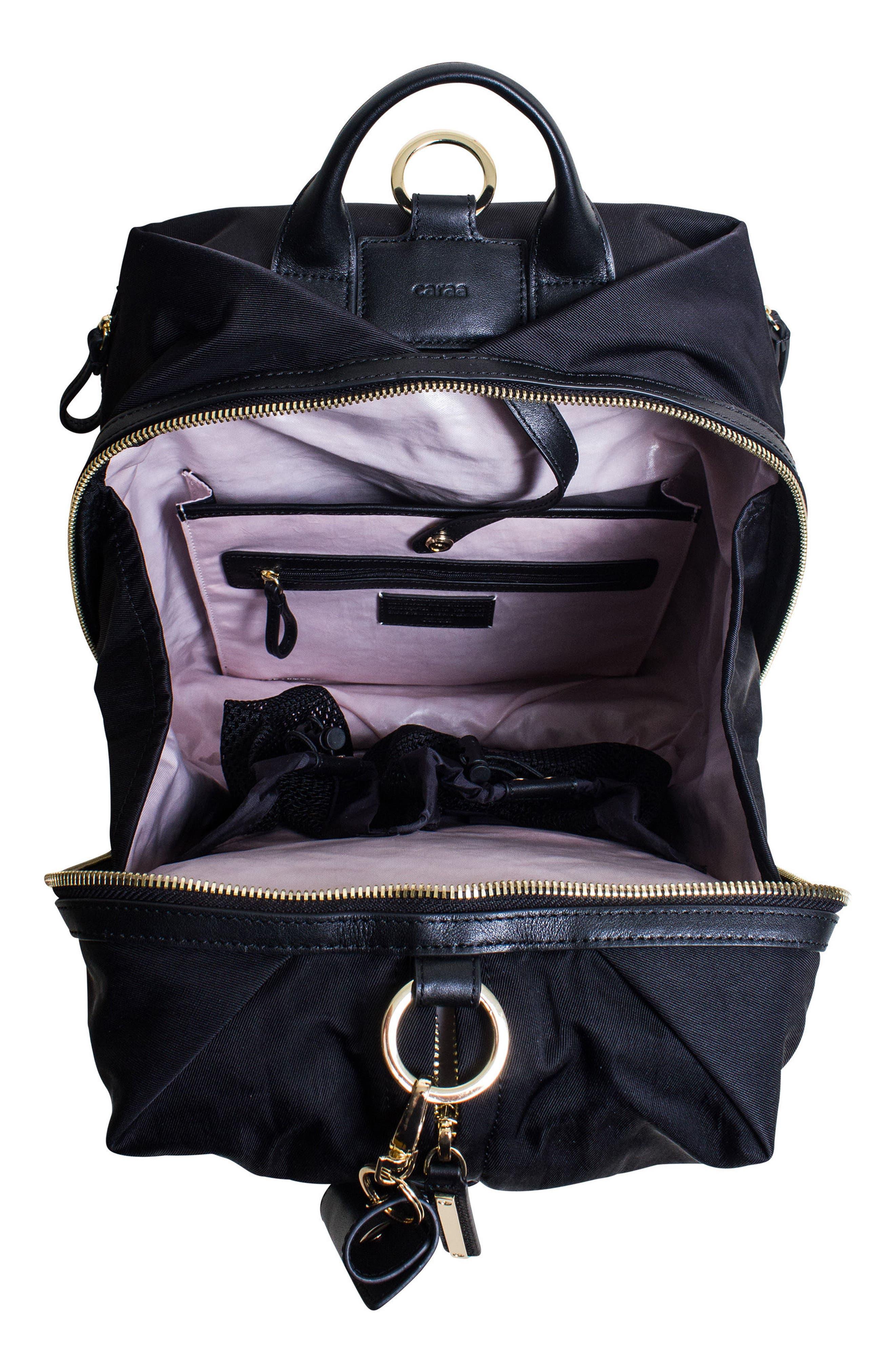 Studio Duffel Backpack,                             Alternate thumbnail 4, color,                             Black