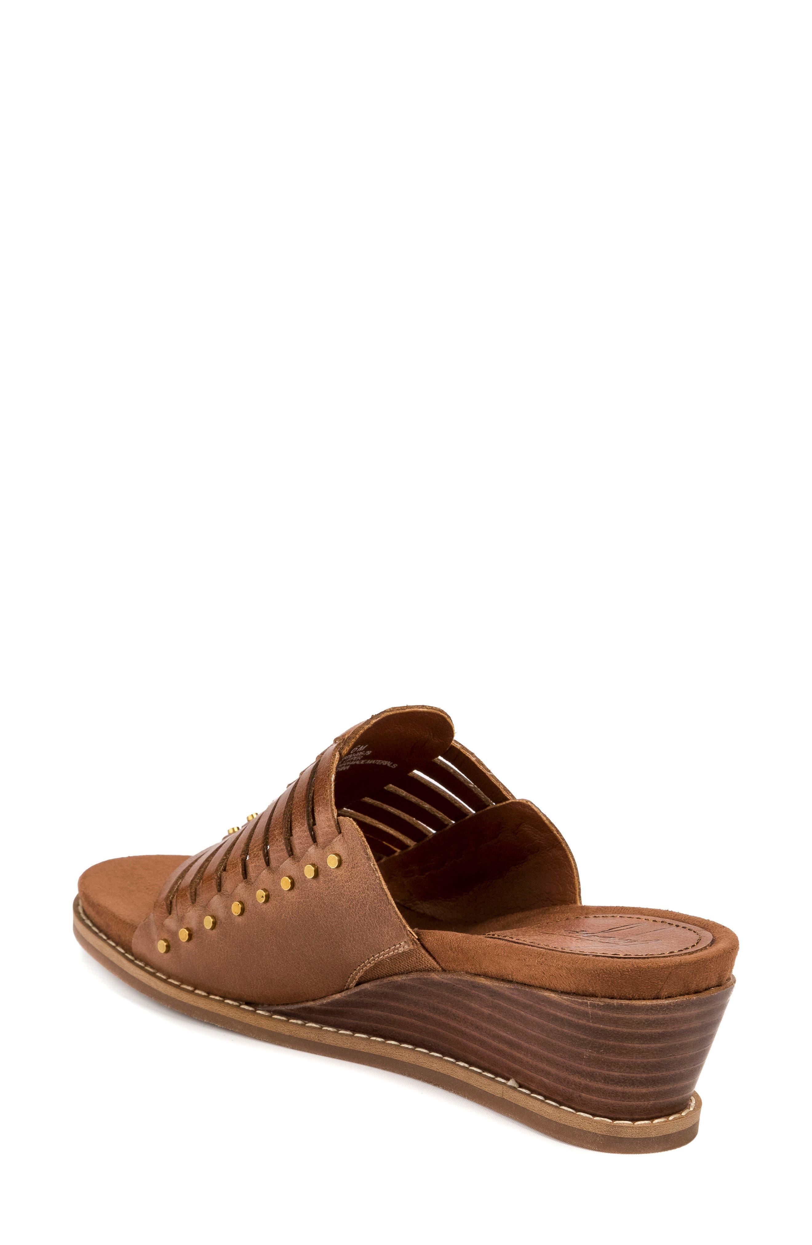 Winnie Wedge Sandal,                             Alternate thumbnail 2, color,                             Brush Brown Leather