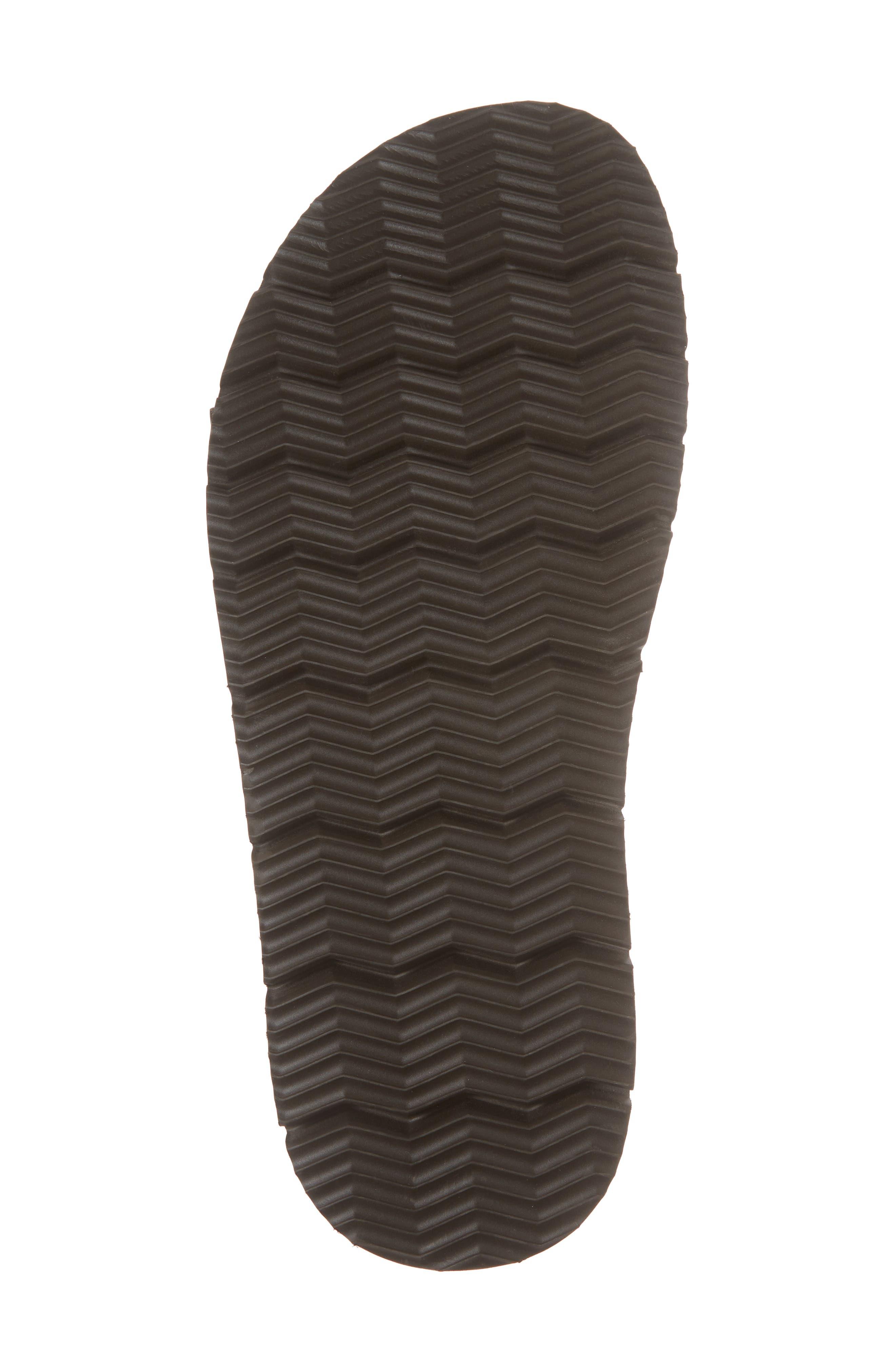Slide Sandal,                             Alternate thumbnail 6, color,                             Expresso/ Tan Leather